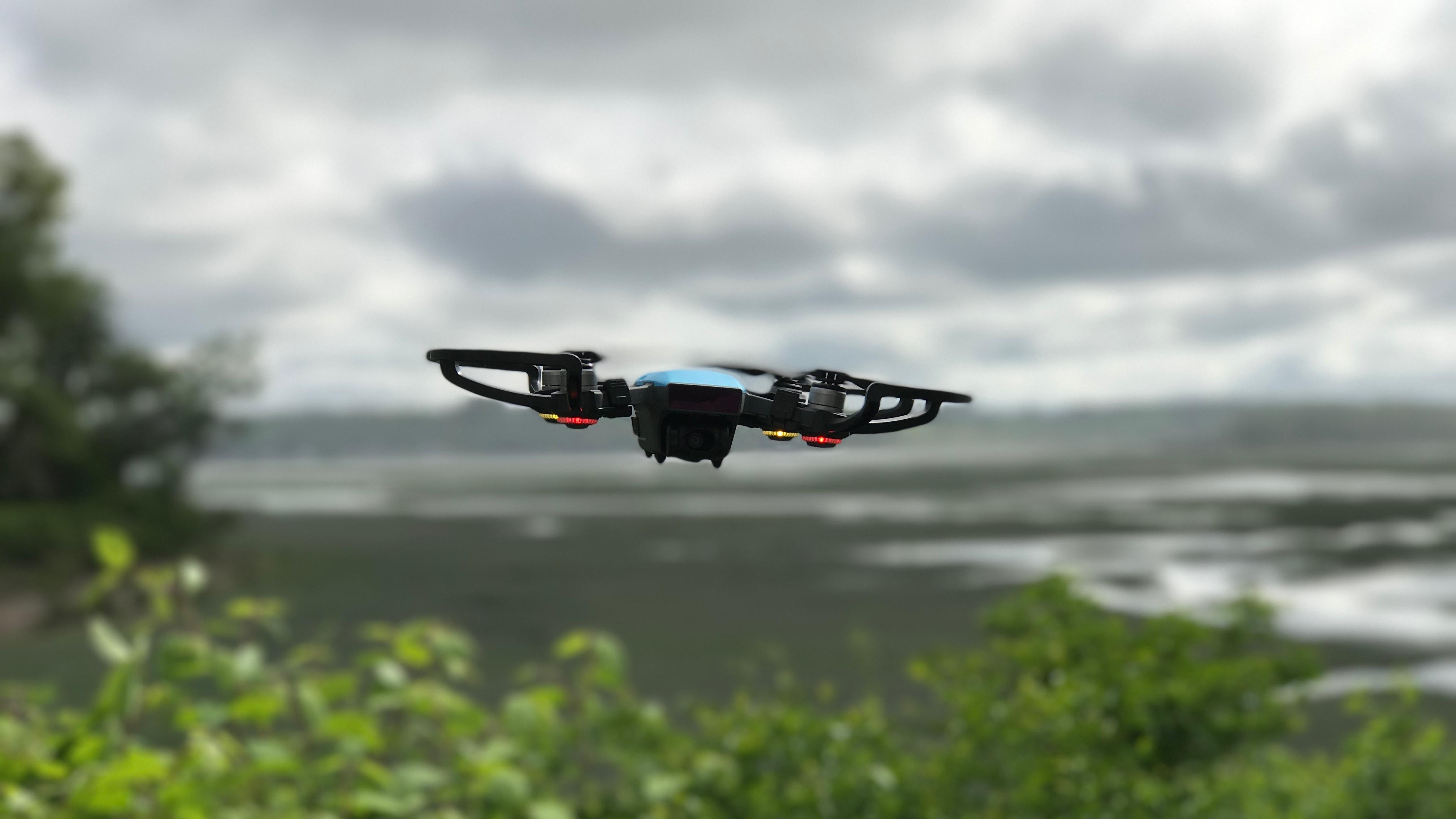 The DJI Spark in flight.