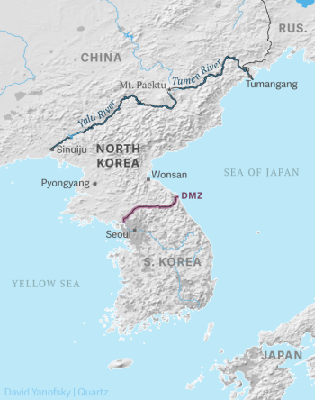 The border situation for North Koreans.