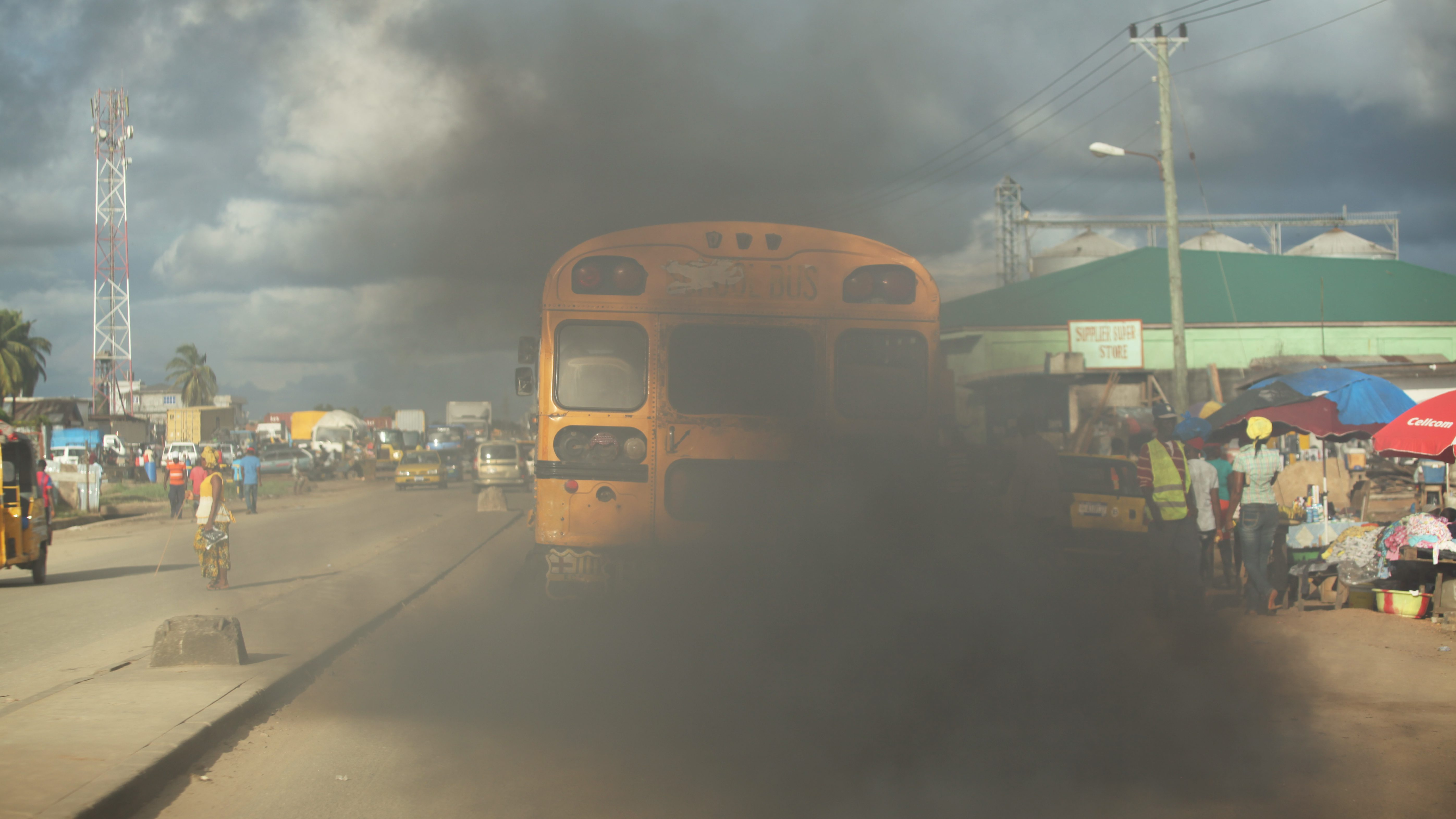 Smoke from Diesel Emssions in Monrovia