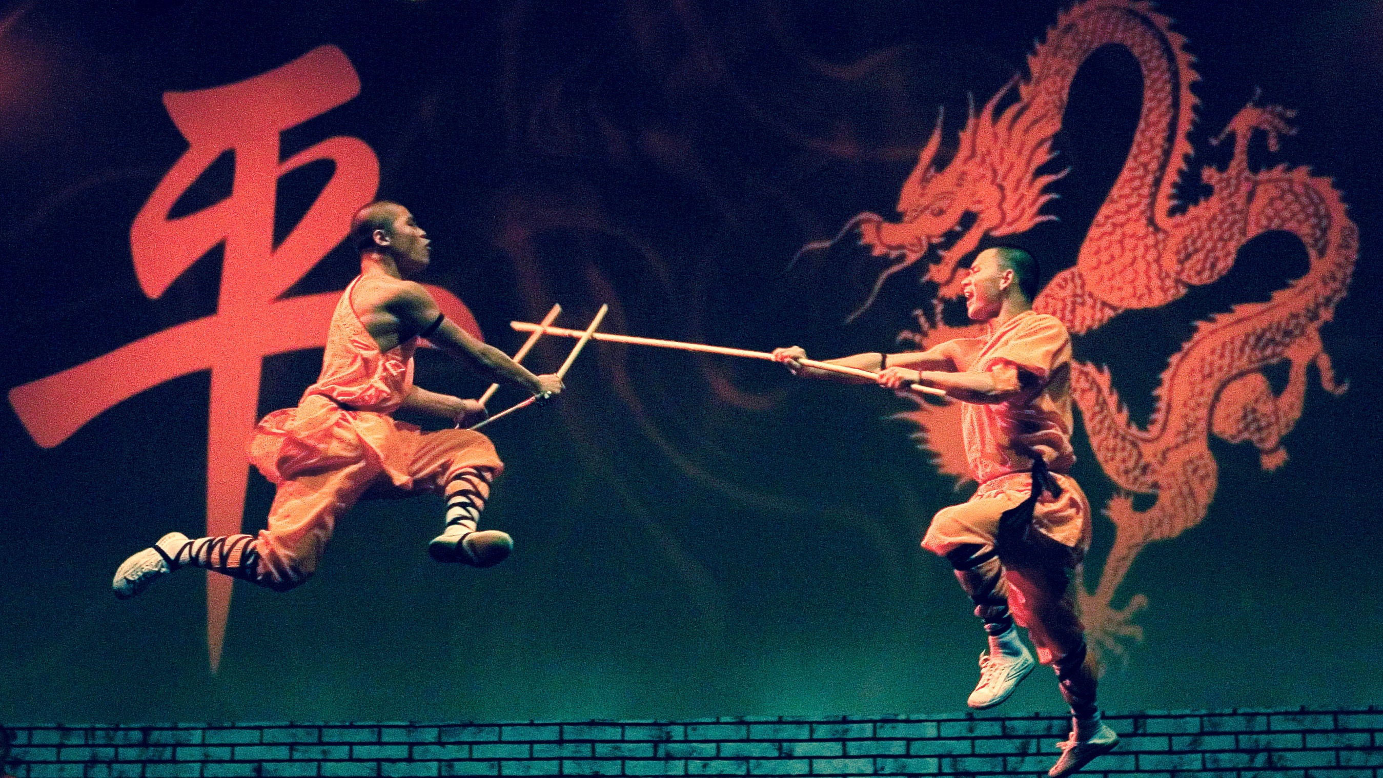 Shaolin monks perform.