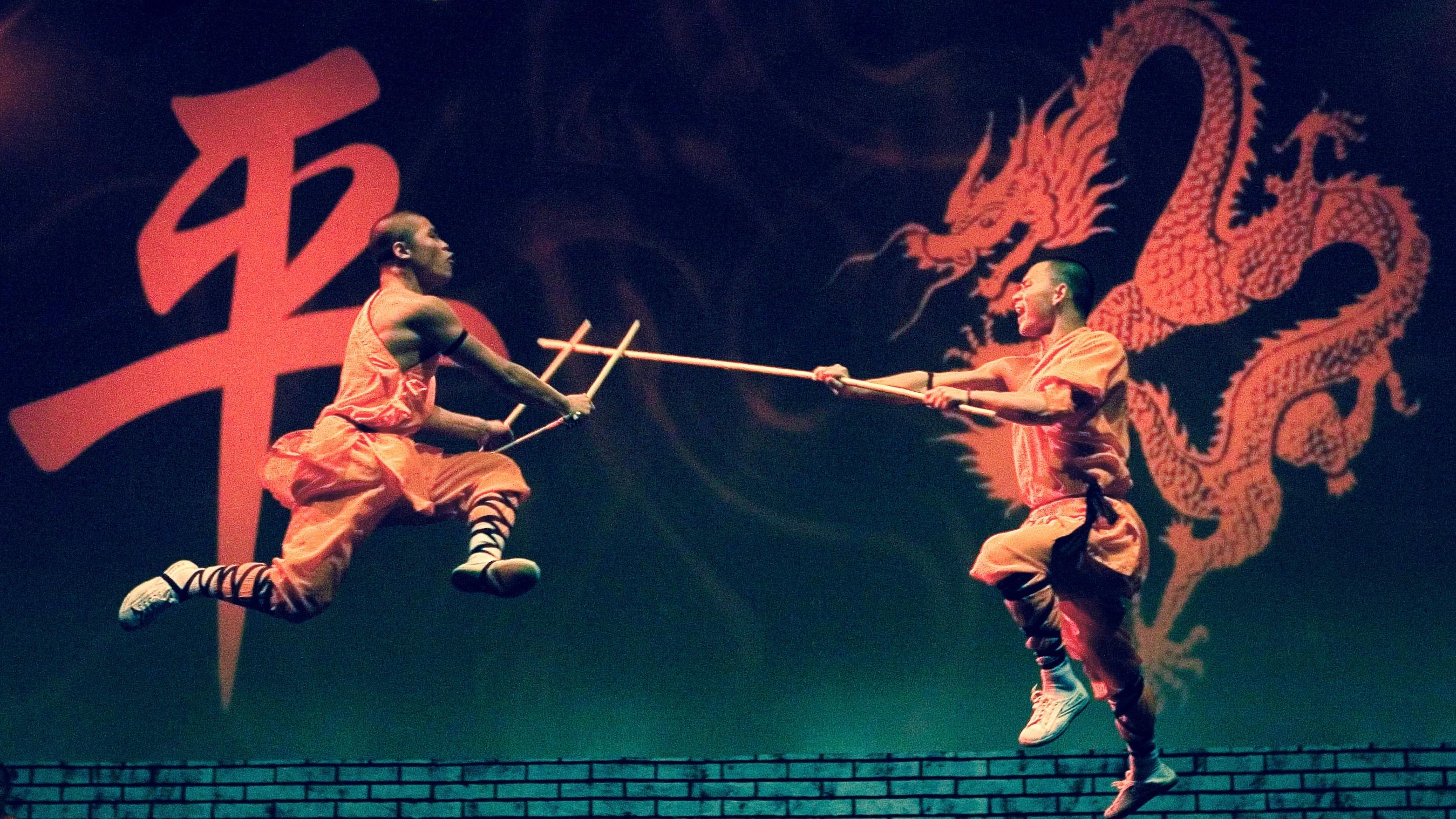 Shaolin monks perform.