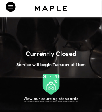 Maple is shutting down after two years of food delivery in New York