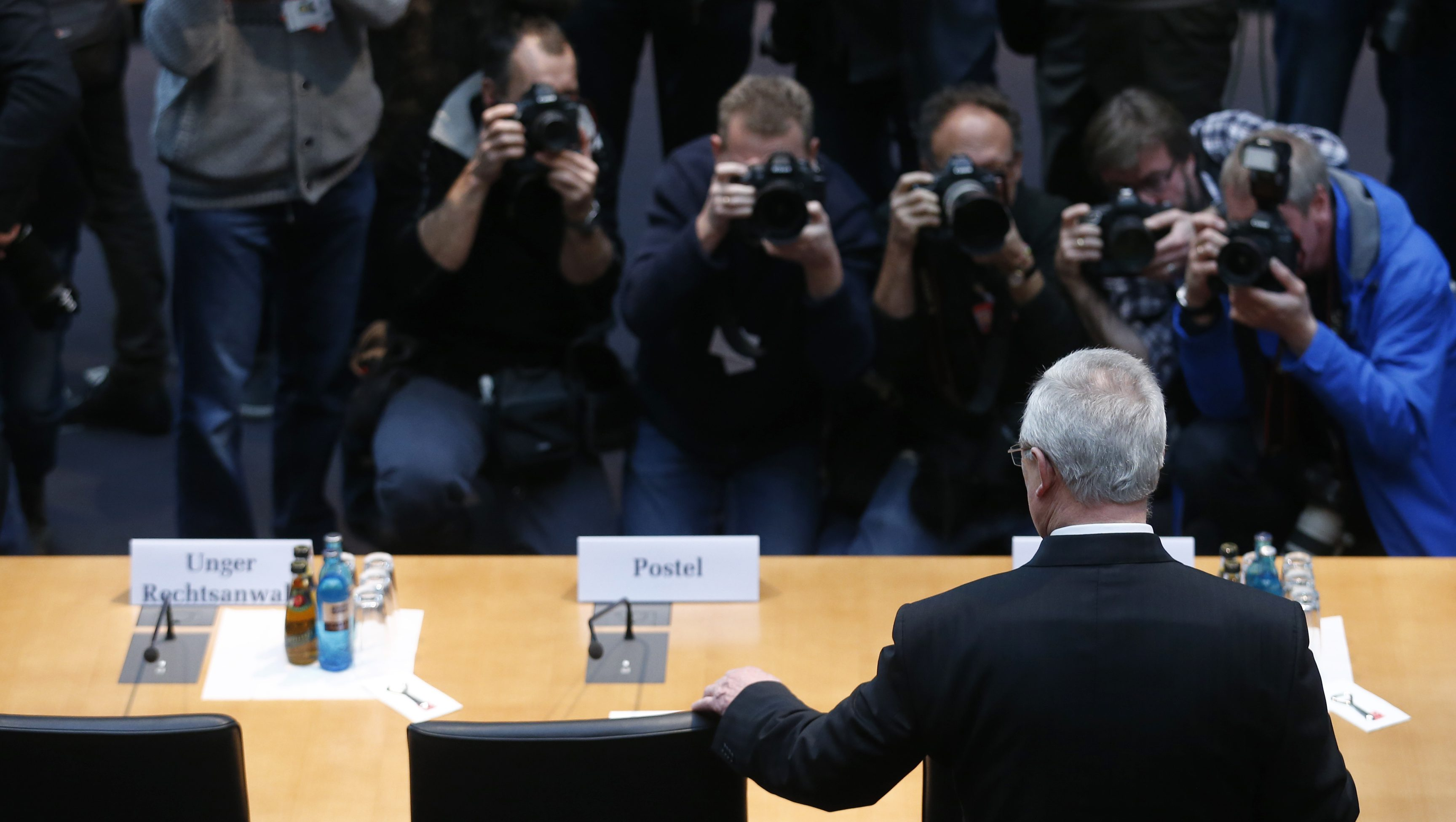 Former Volkswagen chief executive Martin Winterkorn arrives to testify to a German parliamentary committee on the carmaker's emissions scandal in Berlin, Germany, January 19, 2017.