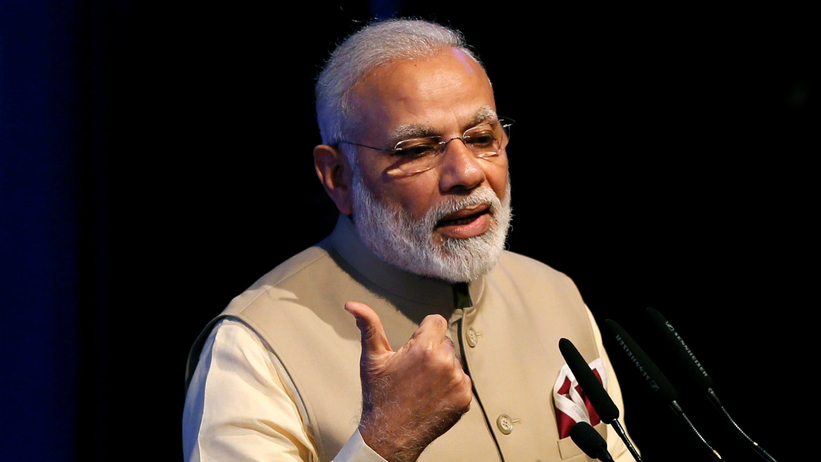 India's Prime Minister Narendra Modi speaks during the United Nations Vesak Day Conference in Colombo, Sri Lanka May 12, 2017.