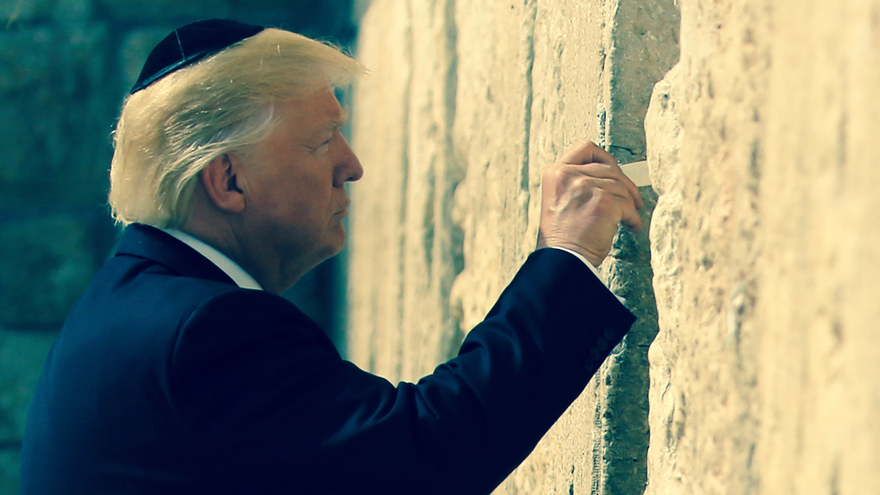 Trump in East Jerusalem.