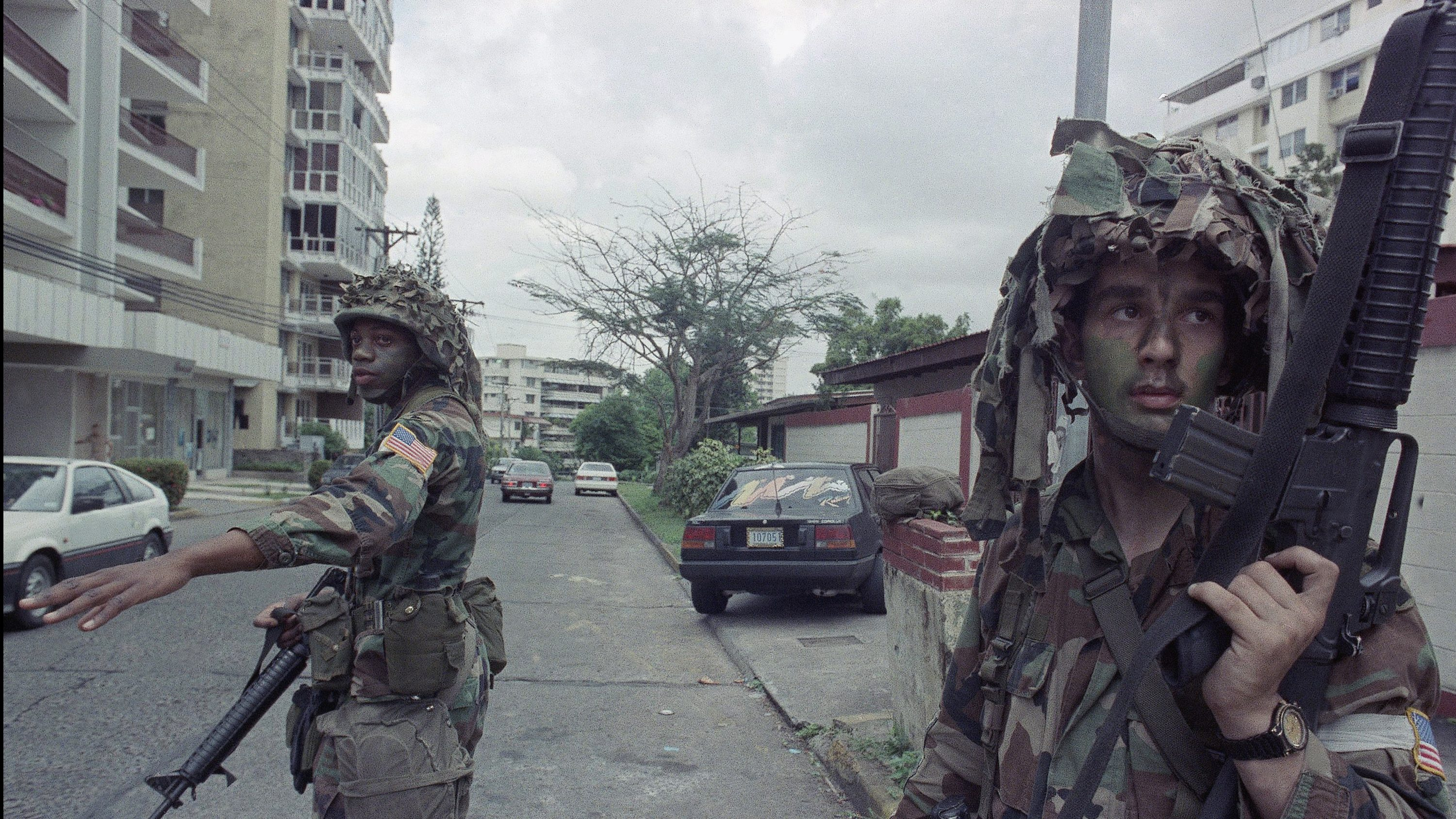 American soldiers in Panama City, Jan. 1990