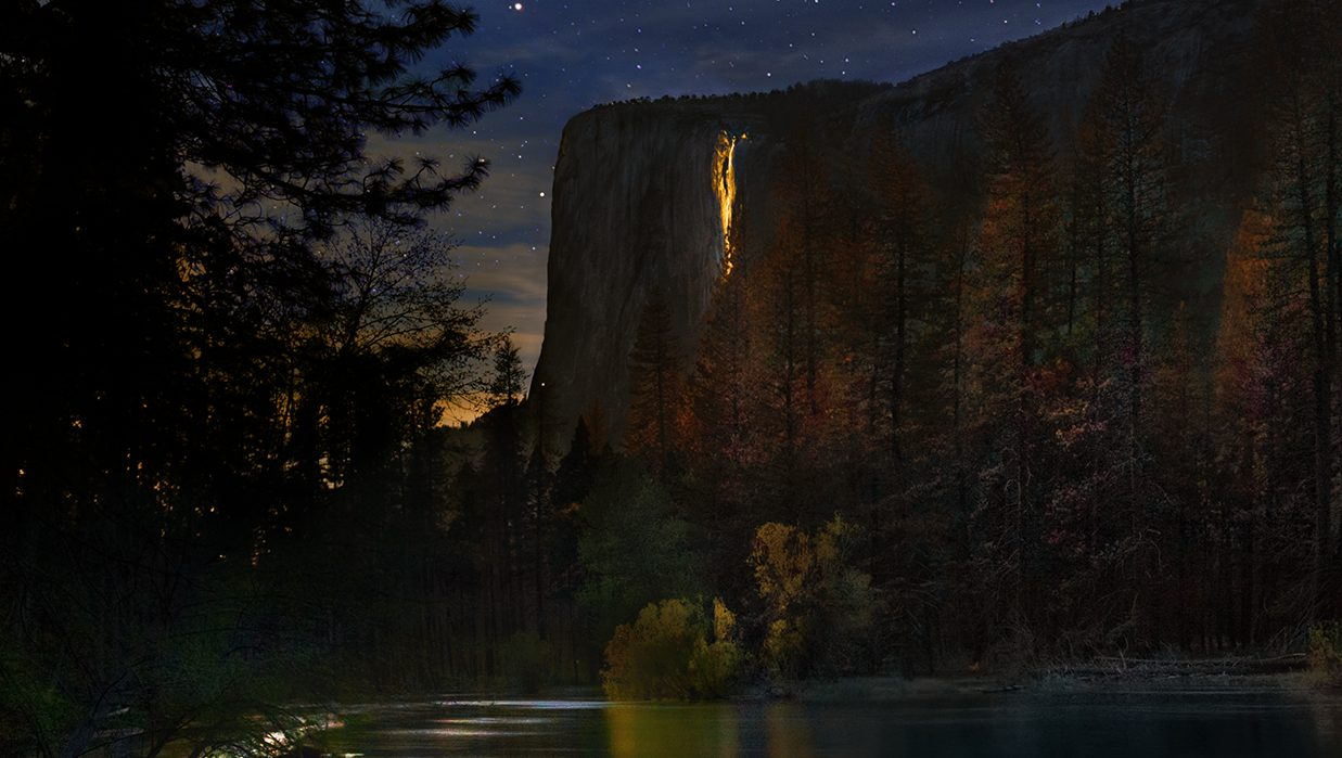 This rare phenomenon is what causes the Yosemite firefall