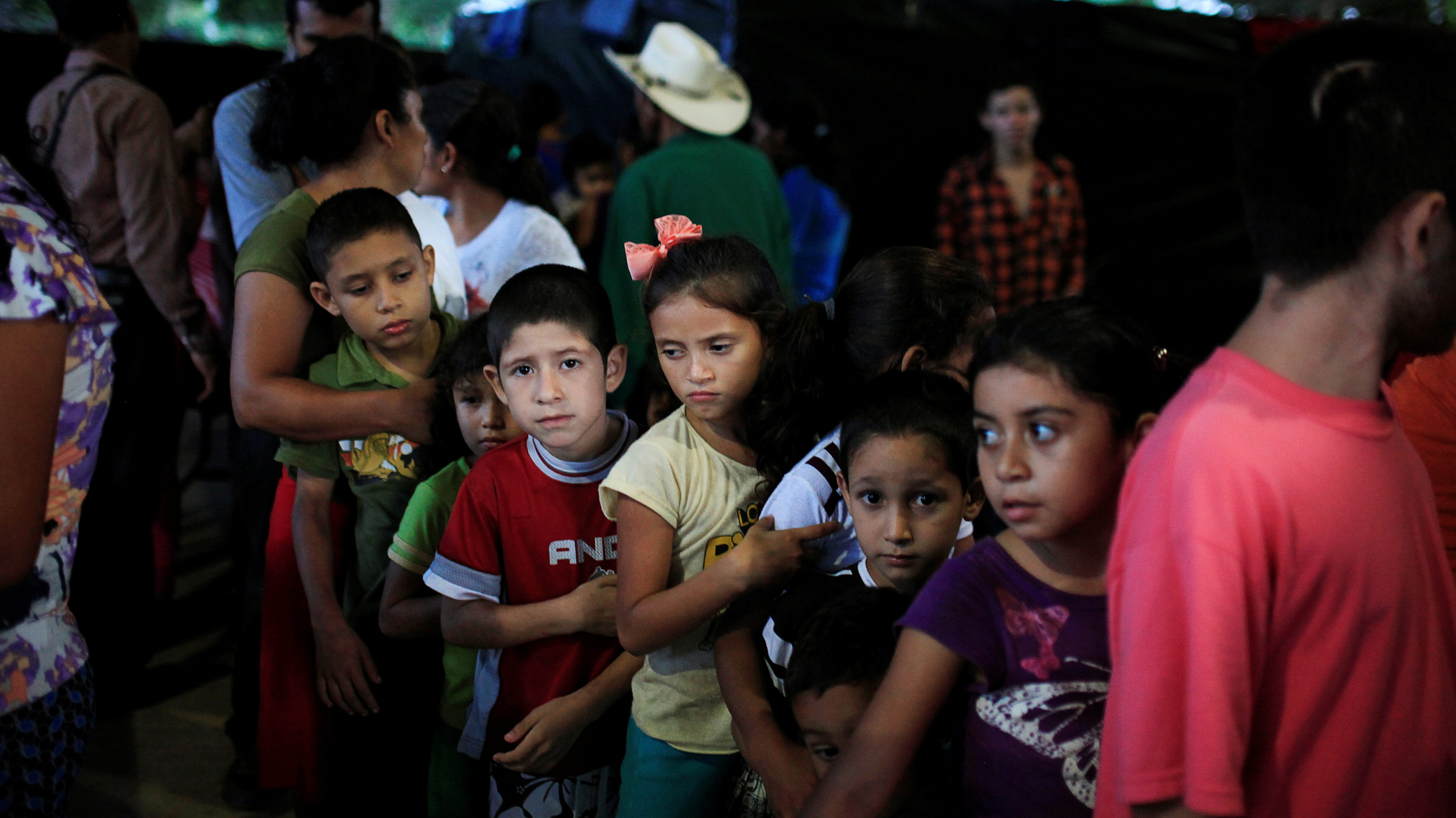 Children displaced by gang violence in El Salvador