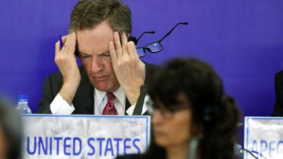 US Trade Representative Robert Lighthizer gestures while attending a joint press conference held on the sideline of the Asia-Pacific Economic Cooperation ( APEC) 's 23rd Ministers responsible for Trade Meeting being held in Hanoi, Vietnam, May 21, 2017.