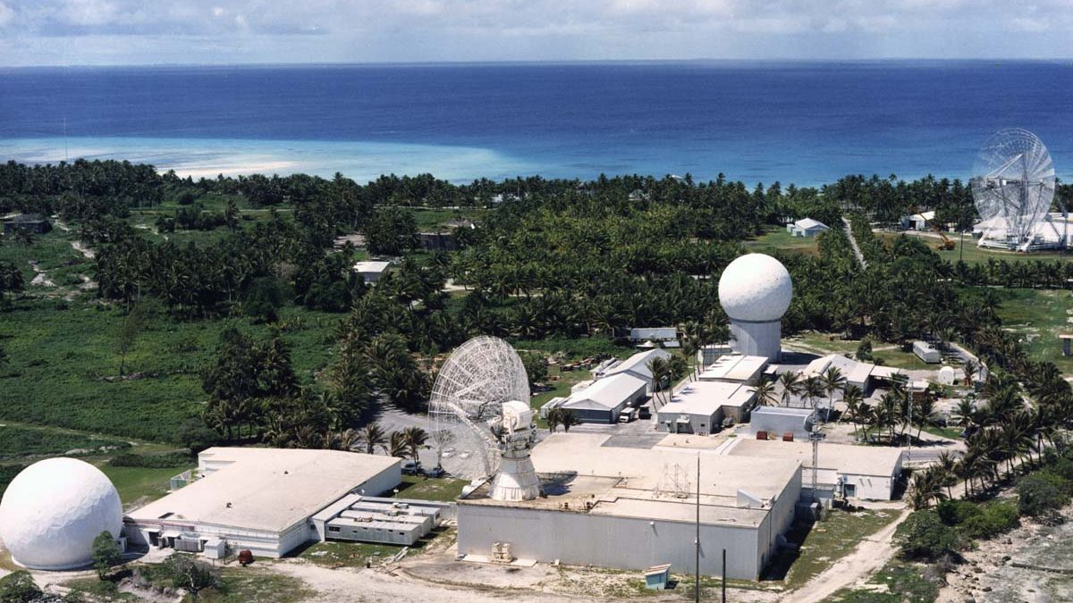 TheRonald Reagan Ballistic Missile Defense Test Site in theKwajalein Atoll.