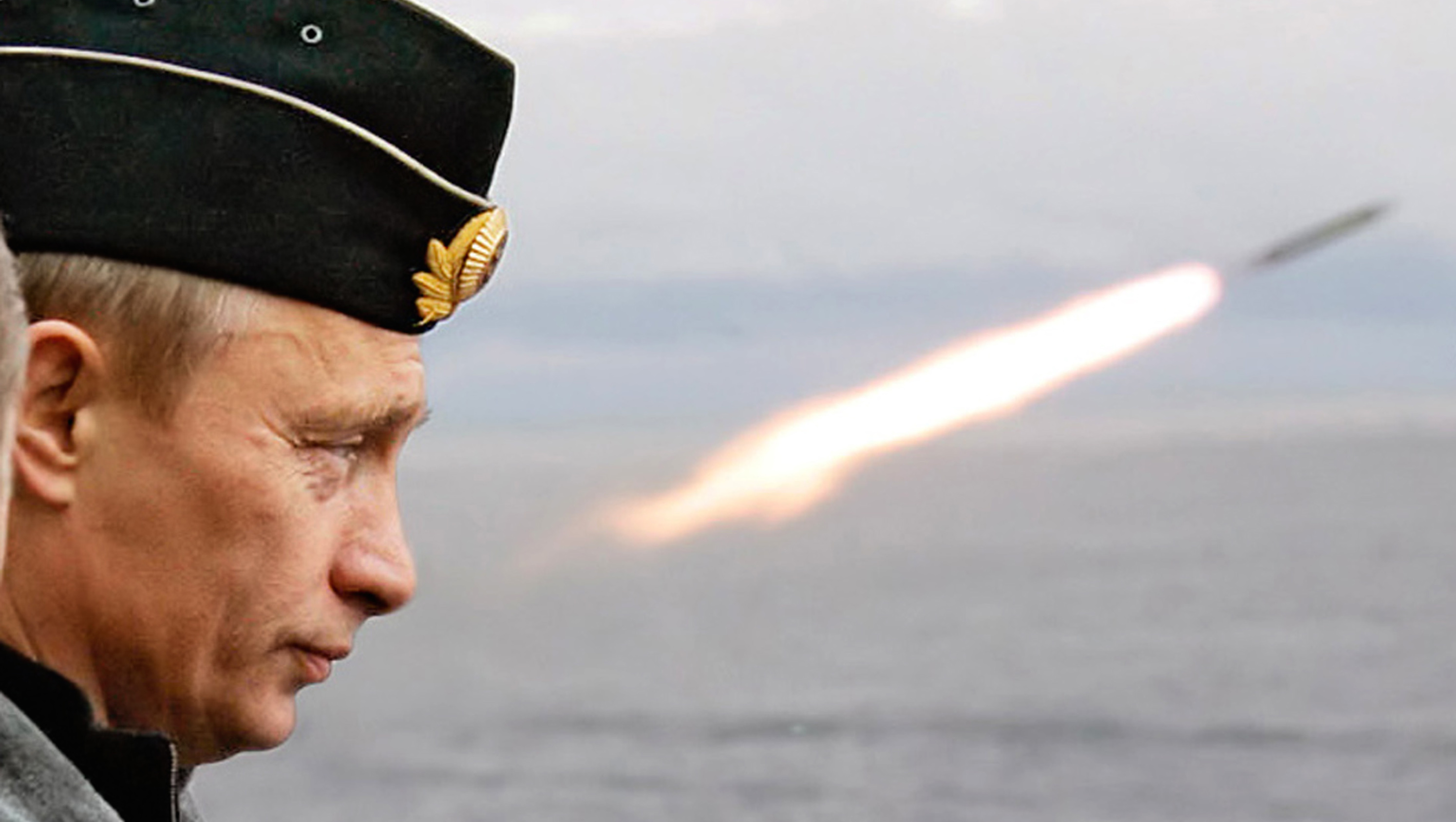 Russian President Putin watches the launch of a missile during naval exercises in Russia's Arctic North on board the nuclear missile cruiser Pyotr Veliky.  Russian President Vladimir Putin watches the launch of a missile during naval exercises in Russia's Arctic North on board the nuclear missile cruiser Pyotr Veliky (Peter the Great), August 17, 2005. Russia's President Vladimir Putin oversaw the launch at sea of a ballistic missile on Wednesday, salvaging some honour after the embarrassment of two failed launches on a visit to the fleet last year. Others are unidentified. REUTERS/ITAR-TASS/PRESIDENTIAL PRESS SERVICE Pictures of the Month August 2005 - RTR15M1H