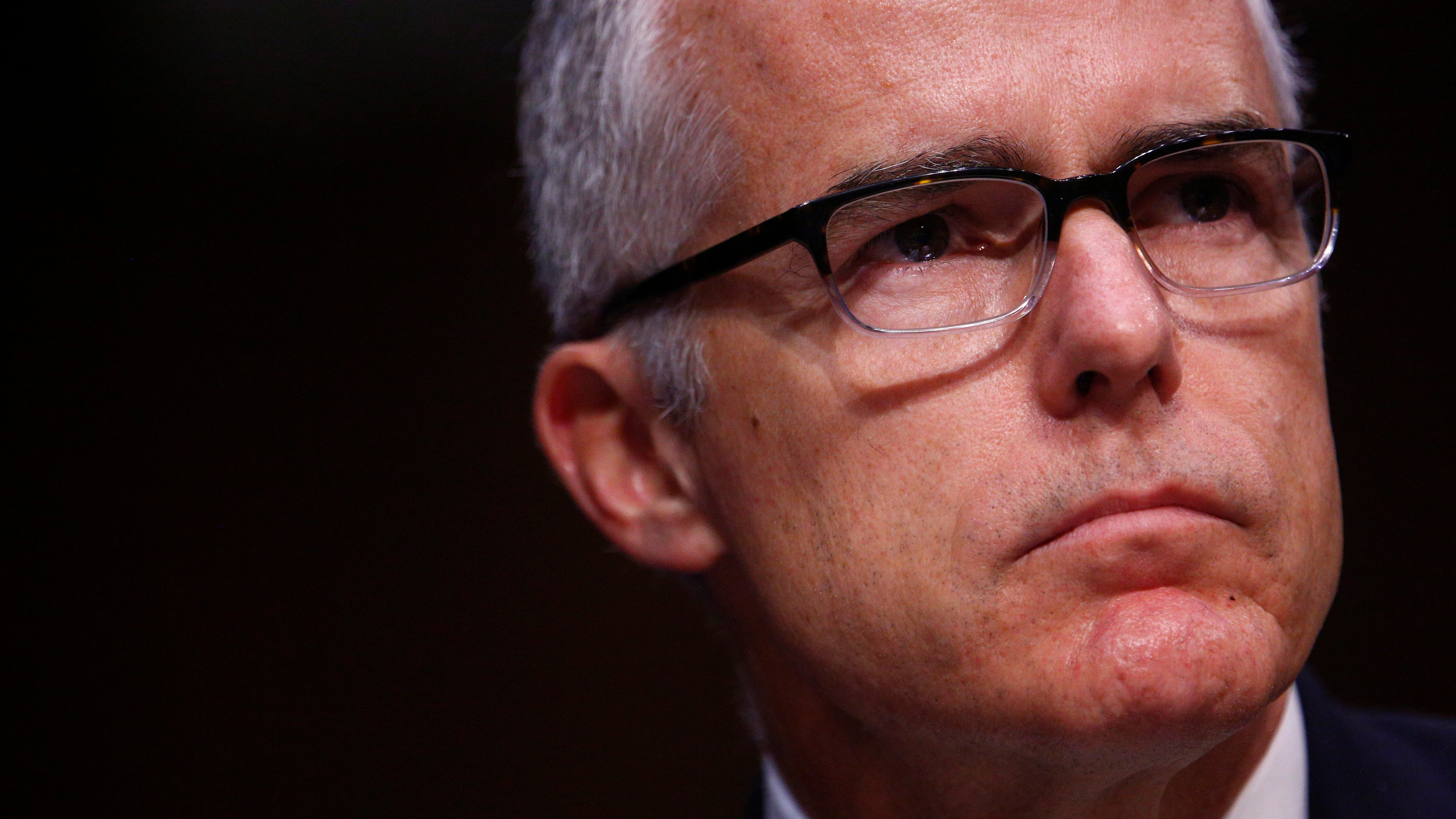 Acting FBI Director Andrew McCabe testifies before the U.S. Senate Select Committee on Intelligence on Capitol Hill in Washington, U.S. May 11, 2017. REUTERS/Eric Thayer - RTS167OE