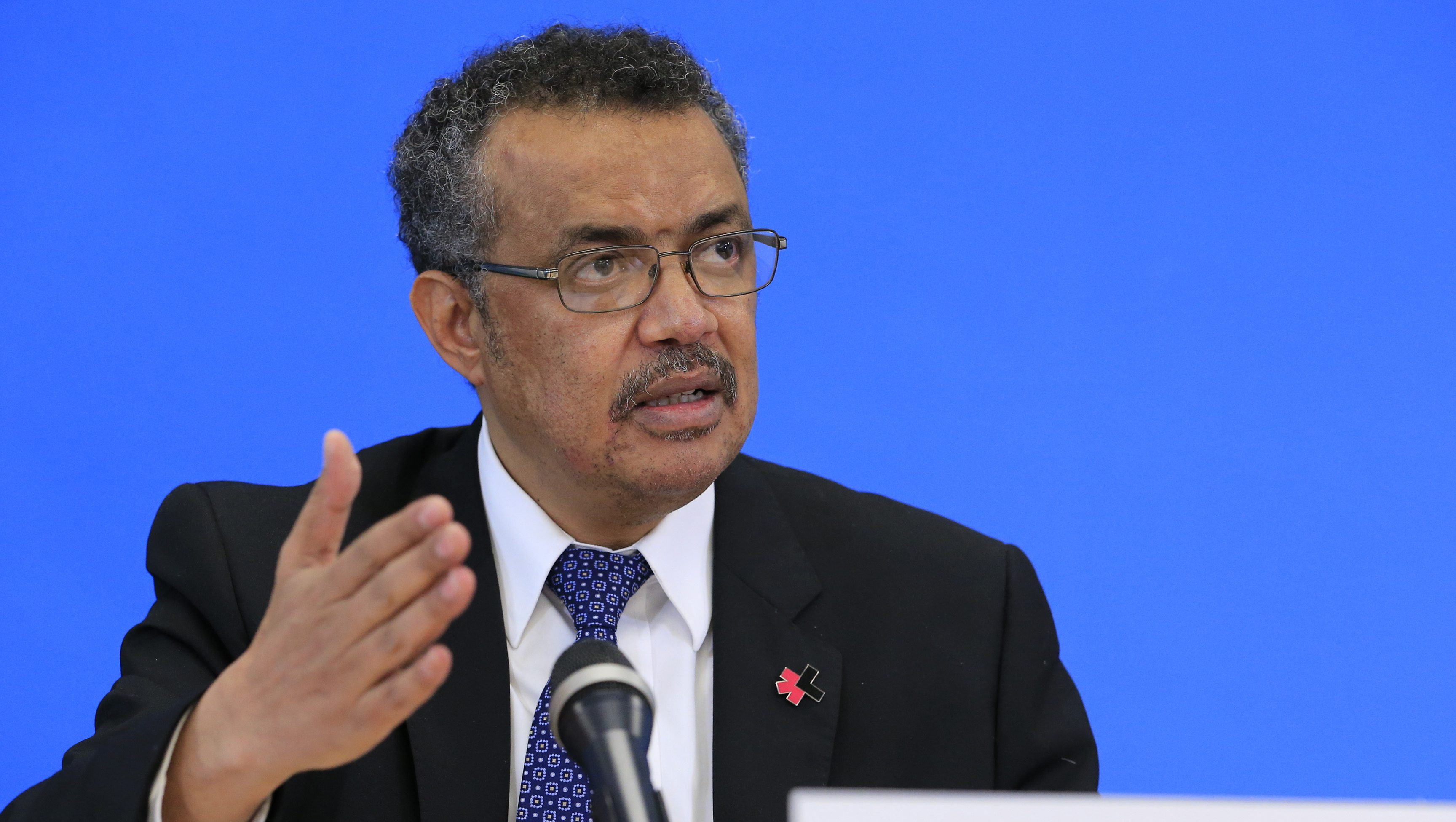 Tedros Adhanom Ghebreyesus, candidate for Director General of the World Health Organisation, attends a news conference at WHO headquarters in Geneva, Switzerland, January 26, 2017.