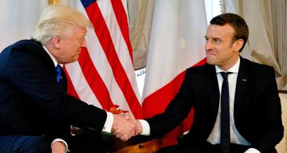 Emmanuel Macron S Handshake With Trump Is How One Gets Respected Says The French President Quartz