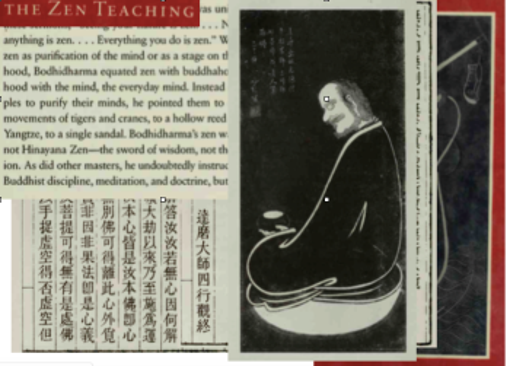 Teachings of Boddhidharma, Colaage.