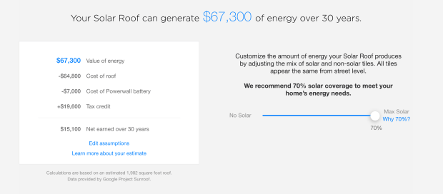 Tesla is releasing a solar roof calculator so you can make money ...