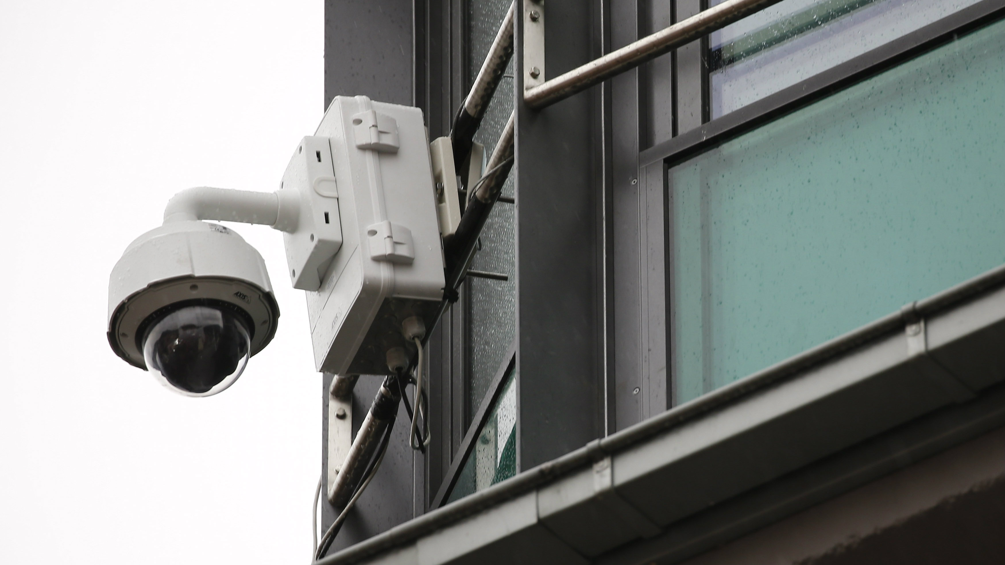 """A surveillance camera is seen on the side of a building during """"Weiberfastnacht"""" (Women's Carnival) celebrations in Mainz, Germany, February 4, 2016. Germany is celebrating its traditional carnival with tight security after assaults on women during New Year's Eve celebrations across the country. REUTERS/Kai Pfaffenbach"""
