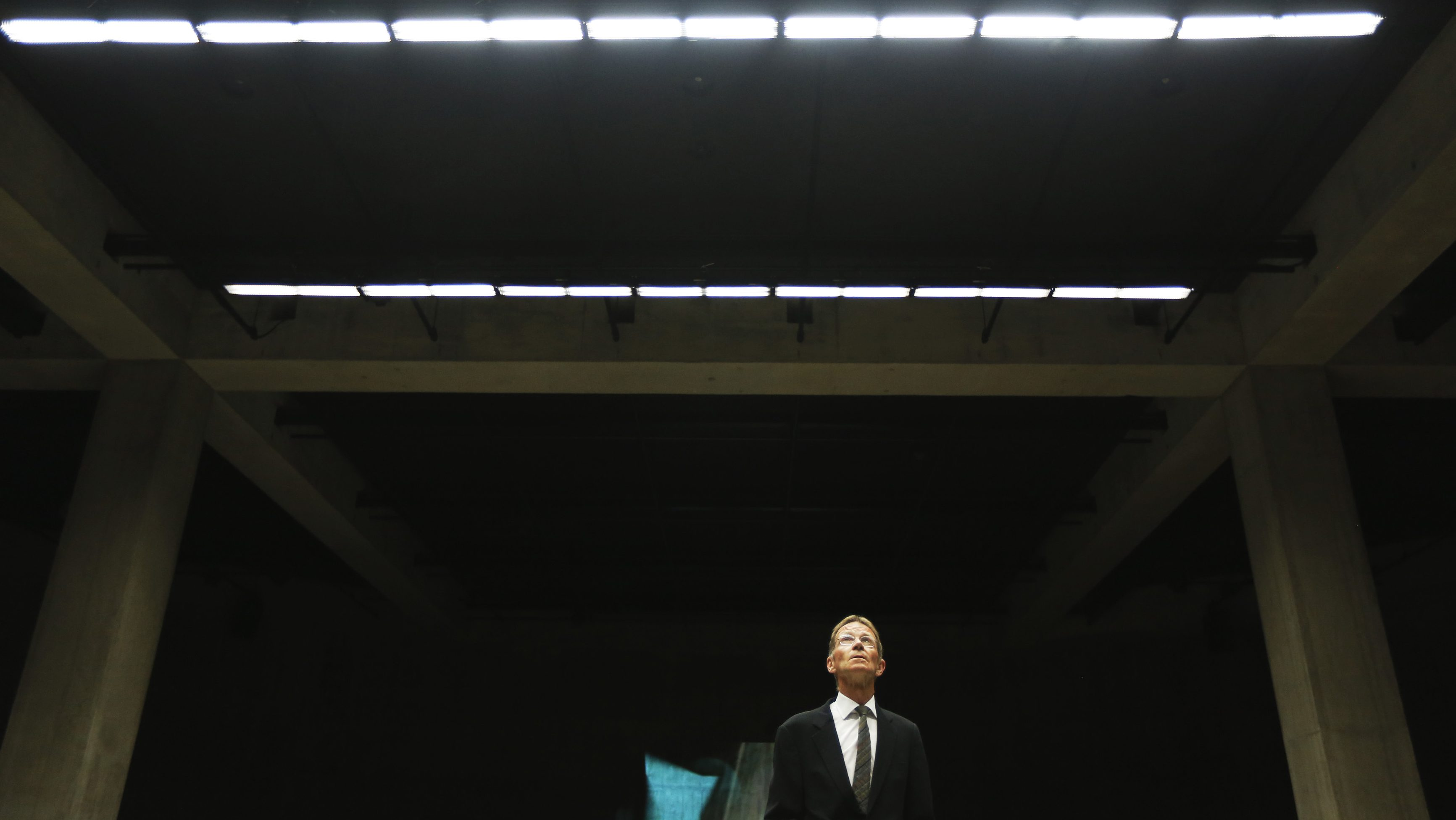 Director Nicholas Serota poses at the official opening of The Tanks, new galleries within the Tate Modern art gallery in London July 16, 2012.