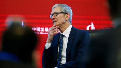 Apple CEO Tim Cook attends the China Development Forum in Beijing, China