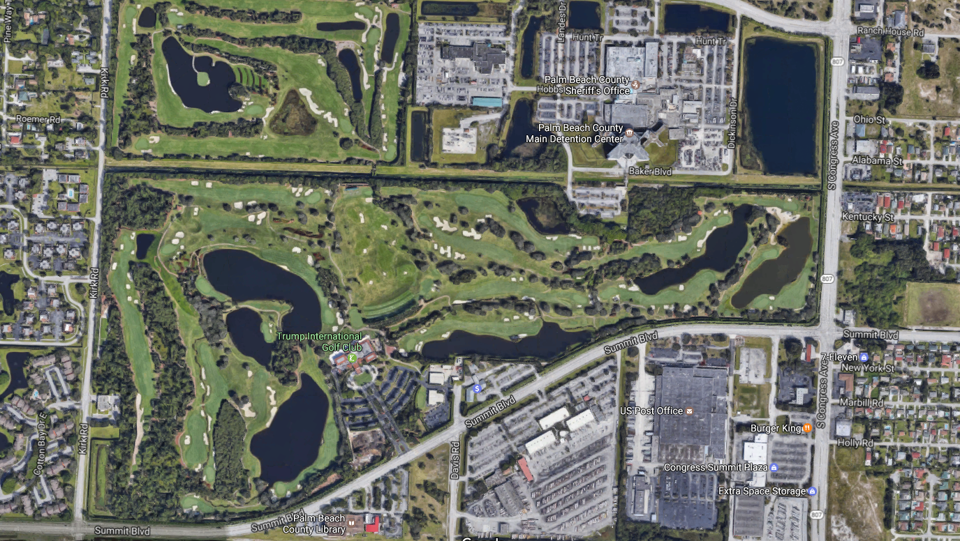 donald trump built a $44 million golf course right next to