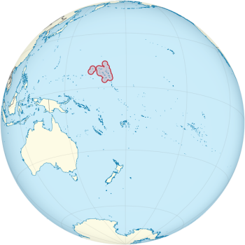 The Marshall Islands are about halfway between Hawaii and Australia.