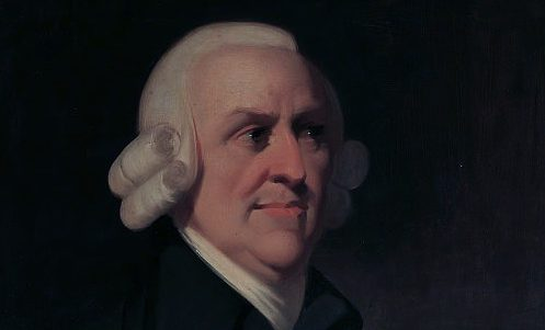 Portrait of the political economist and philosopher Adam Smith (1723-1790) by an unknown artist.