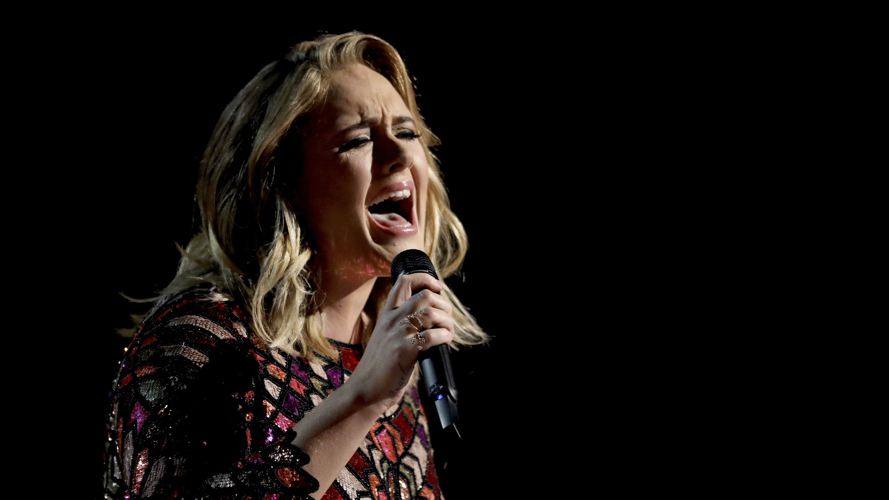 """Adele performs """"Hello"""" at the 59th annual Grammy Awards on Sunday, Feb. 12, 2017, in Los Angeles."""