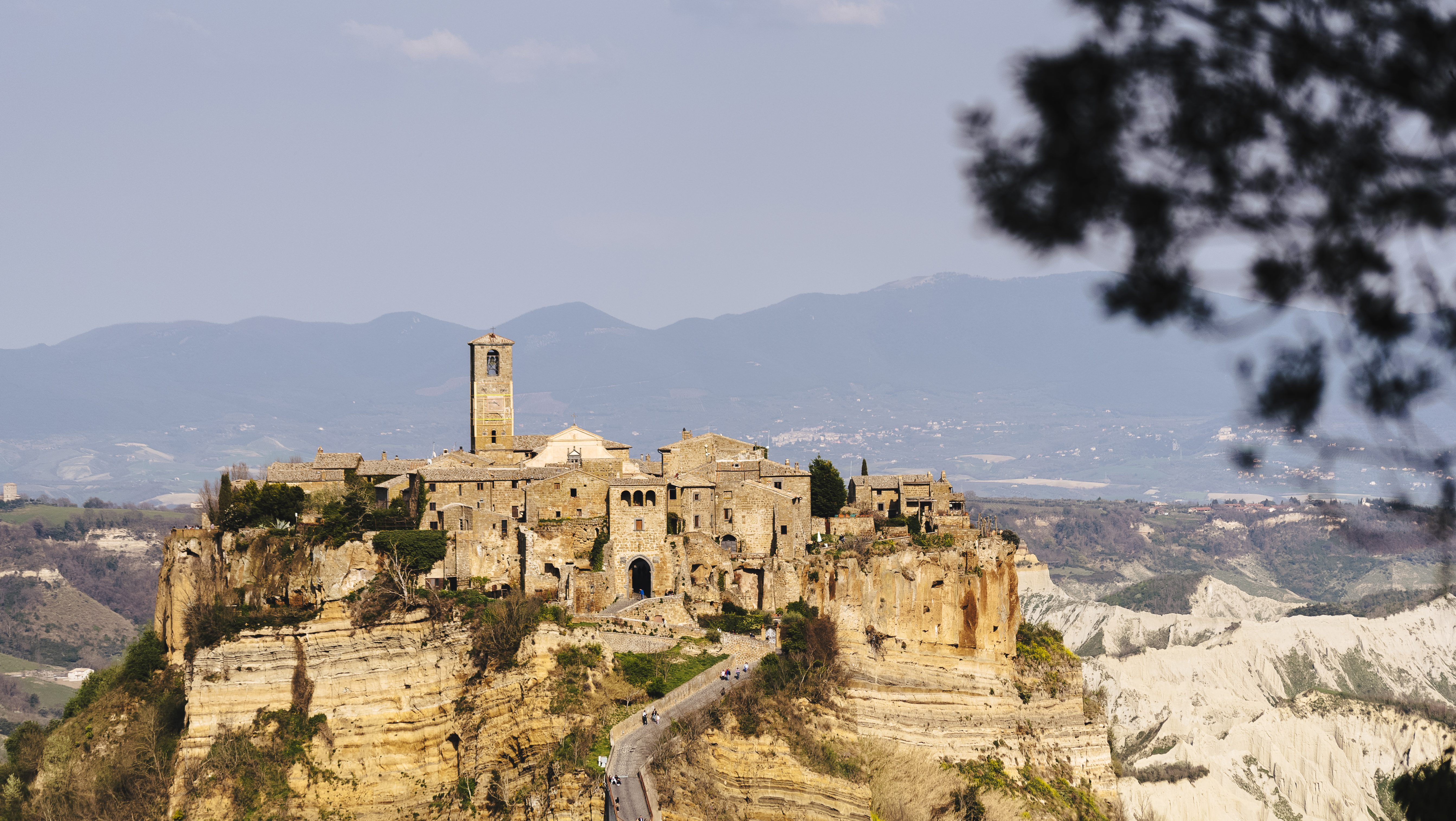 An Airbnb in Civita, Italy.