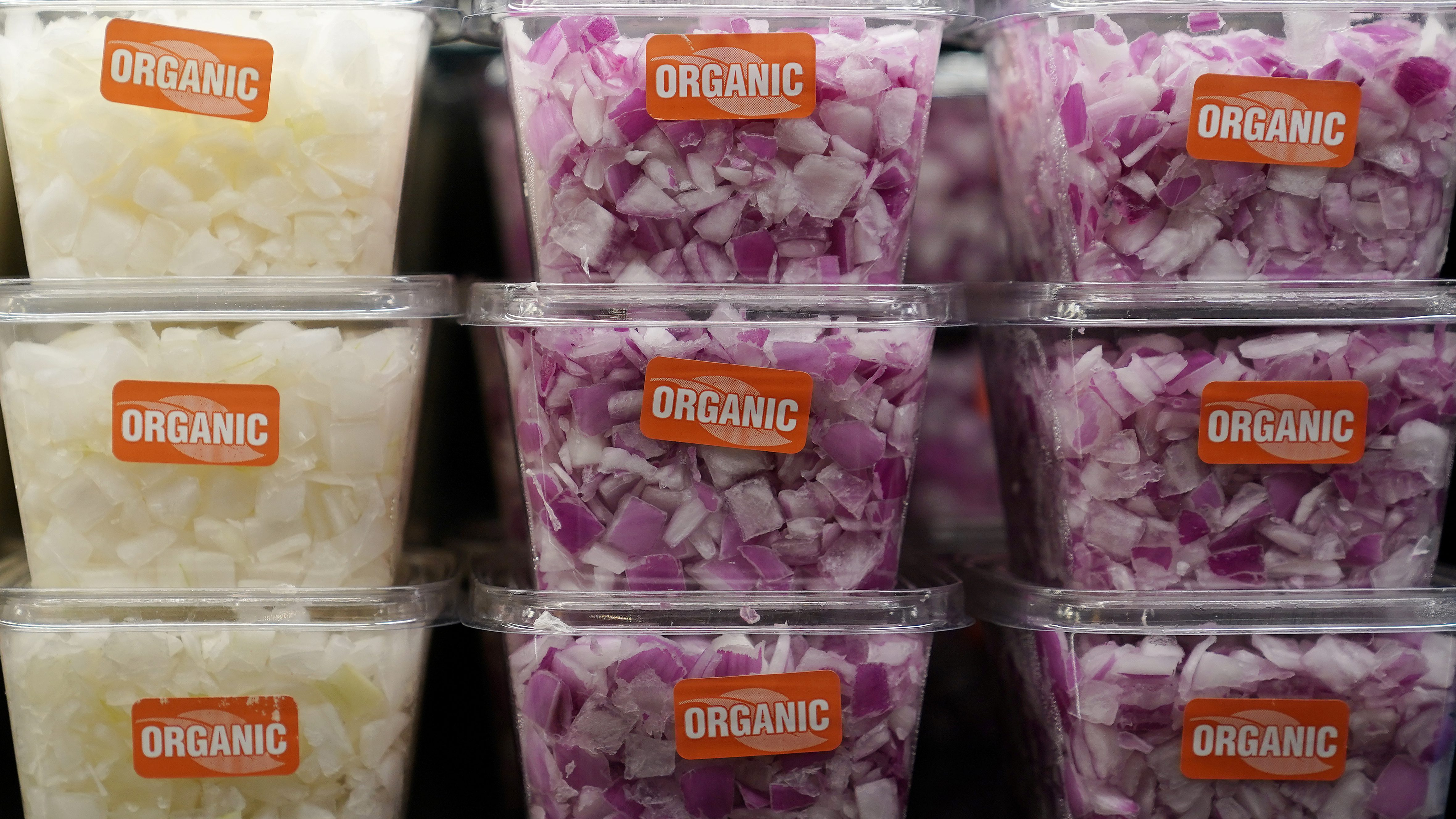 Chopped onions for sale are pictured inside a Whole Foods Market in the Manhattan borough of New York City, New York, U.S. June 16, 2017.