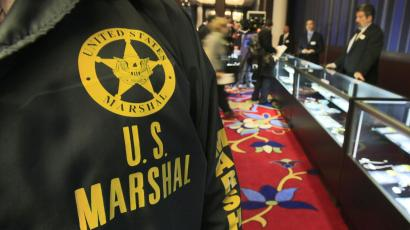 The US Marshals Service relies more heavily on private