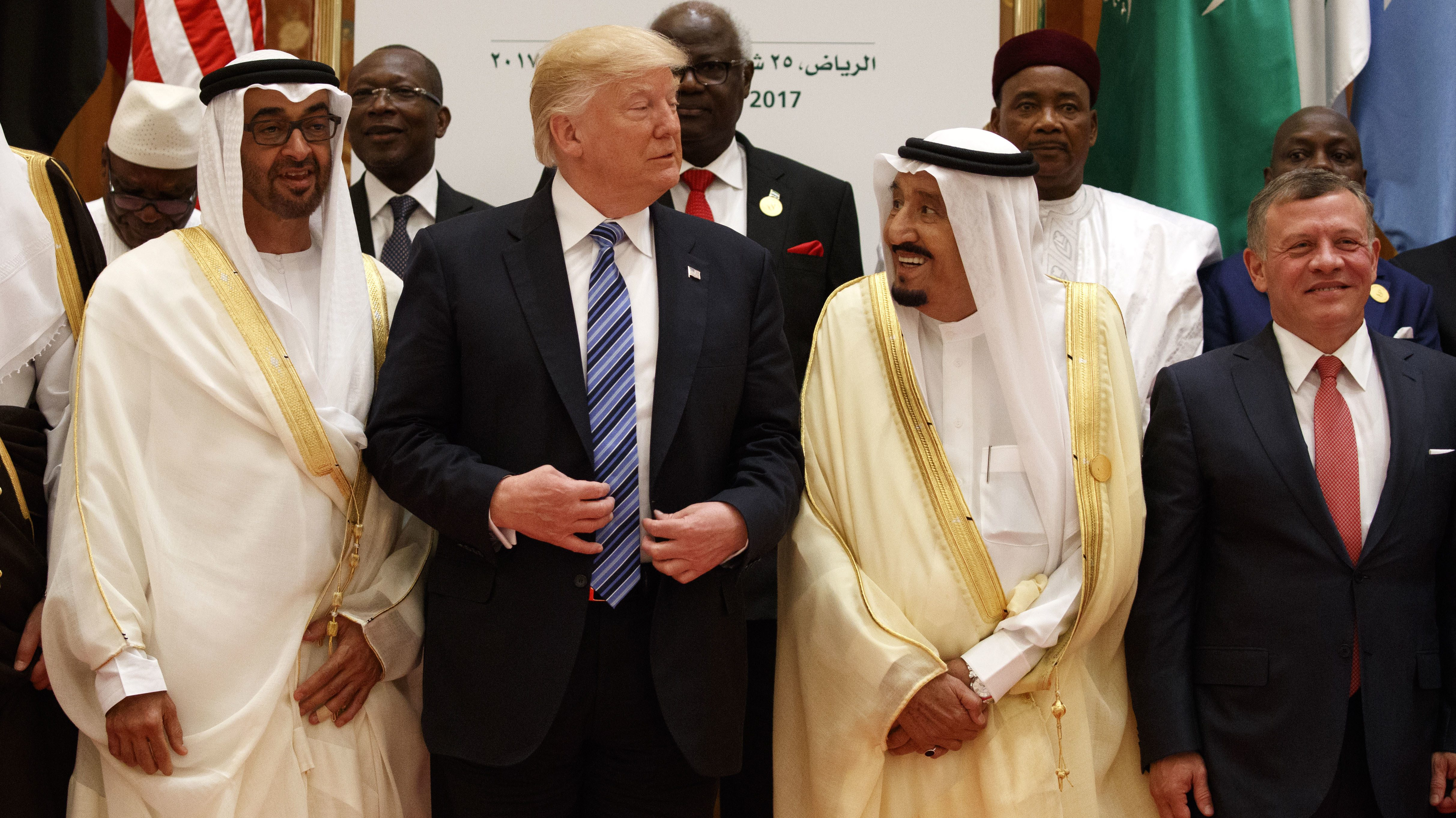 Image result for trump with saudi uae leaders