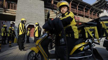 Chinese food delivery drivers