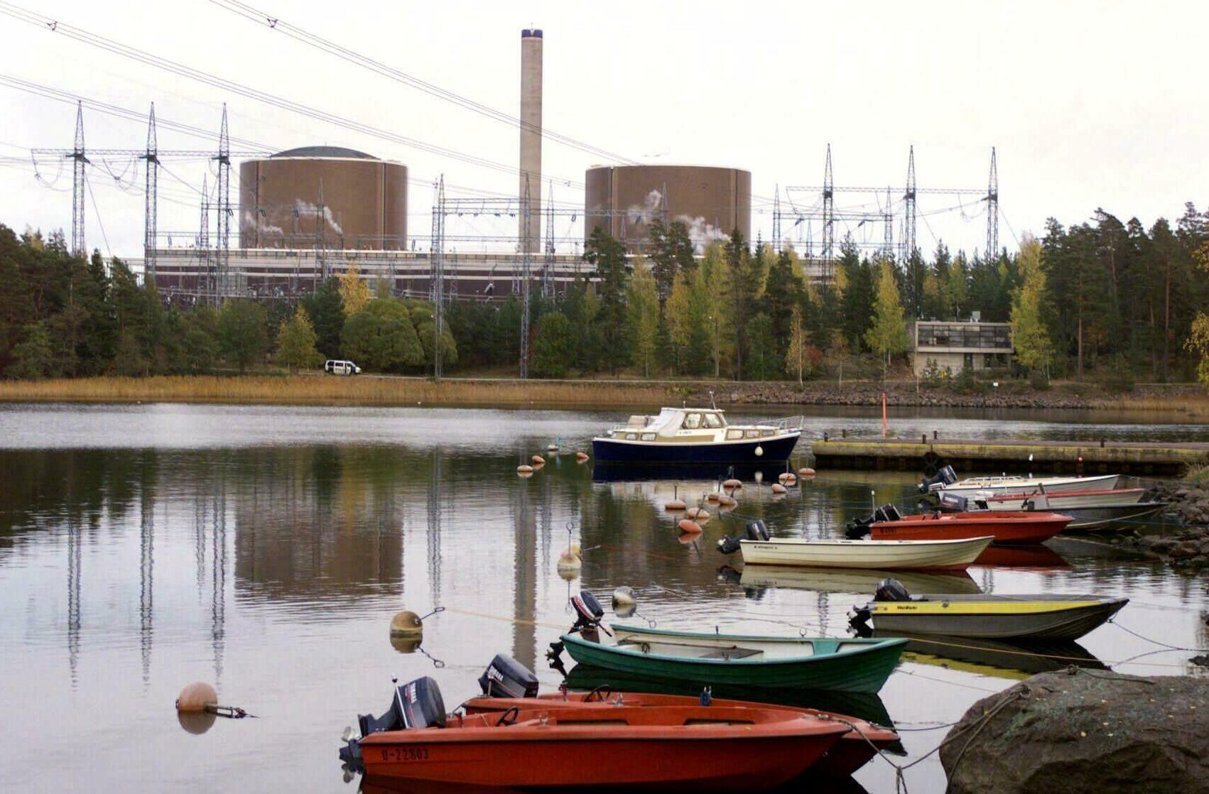 The Loviisa, southern Finland nuclear power station is pictured Tuesday, October 5, 1999. Hydrogen gas escaped momentarily into the atmosphere at the nuclear power station Tuesday, in southern Finland, but caused no radiation or danger to the surrounding area, nuclear safety officials said. The leak happened when empty hydrogen gas containers were being replaced outside at the Loviisa plant, some 100 kilometers (60 miles) east of Helsinki.