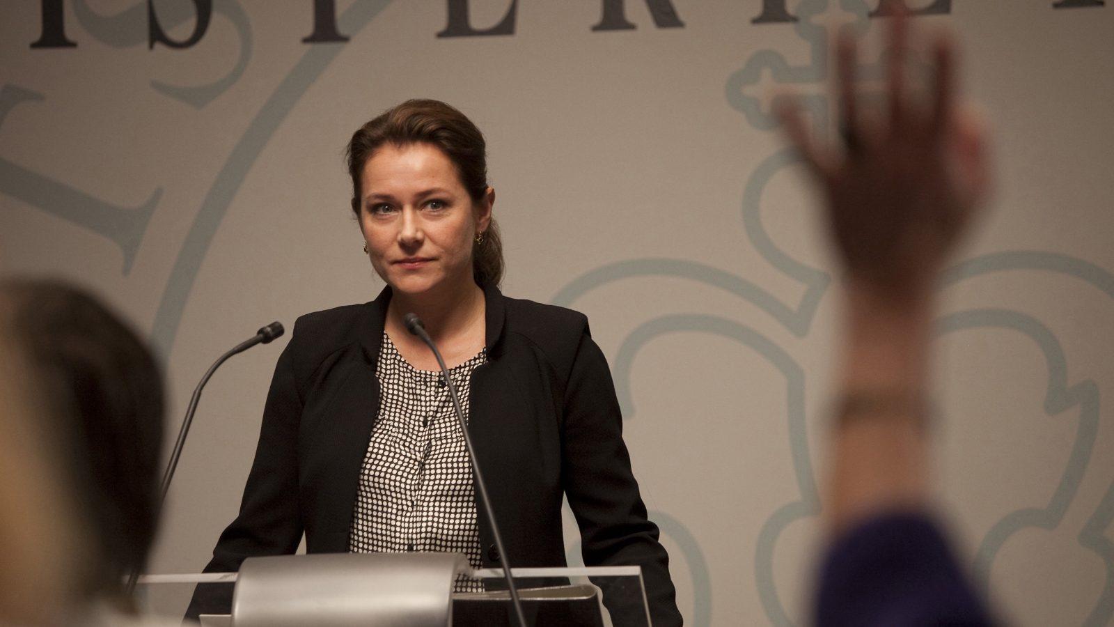 Sidse Babett Knudsen as the Danish PM in Borgen.
