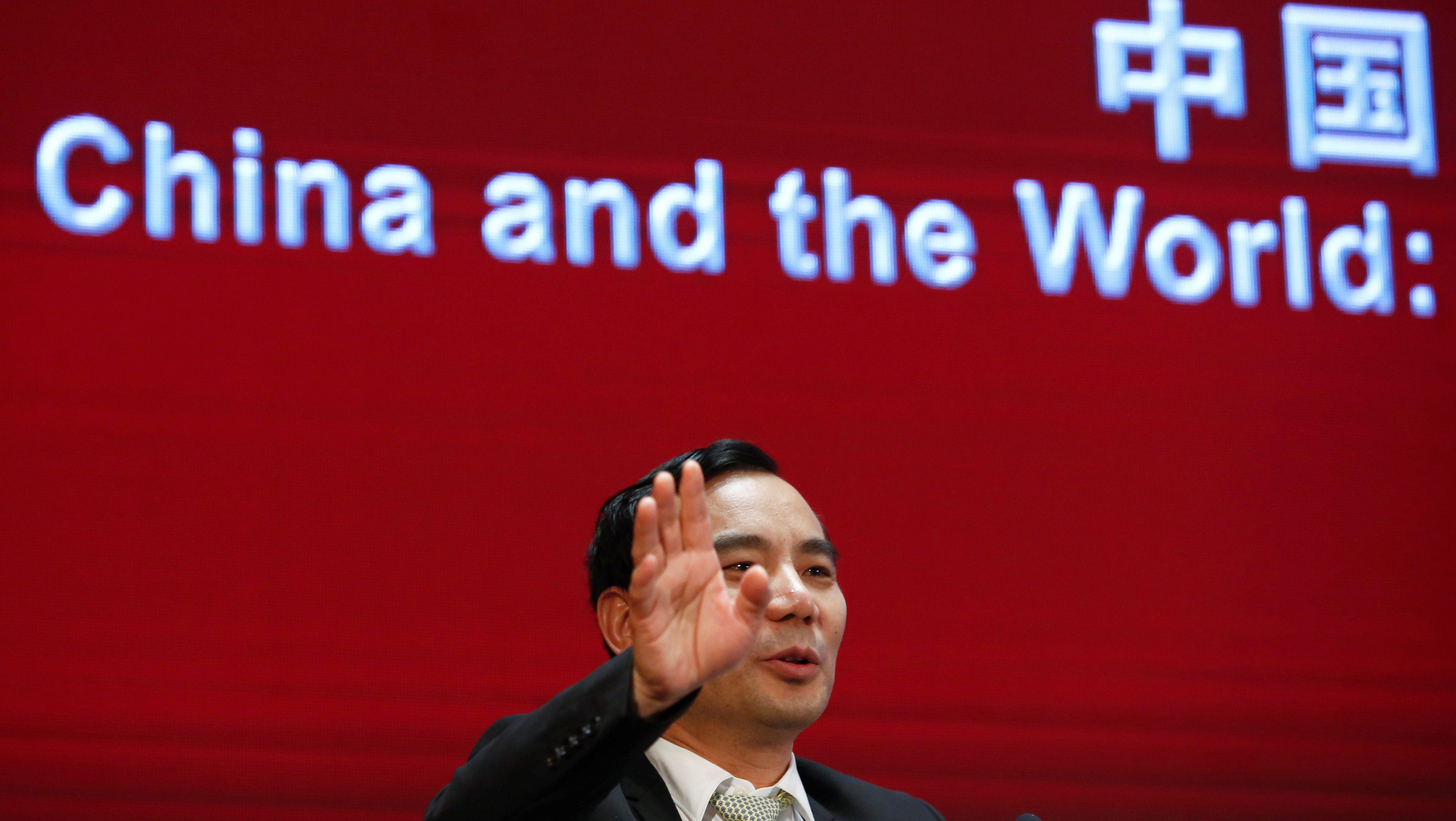 Chairman of Anbang Insurance Group Wu Xiaohui attends the China Development Forum in Beijing, China, March 18, 2017.