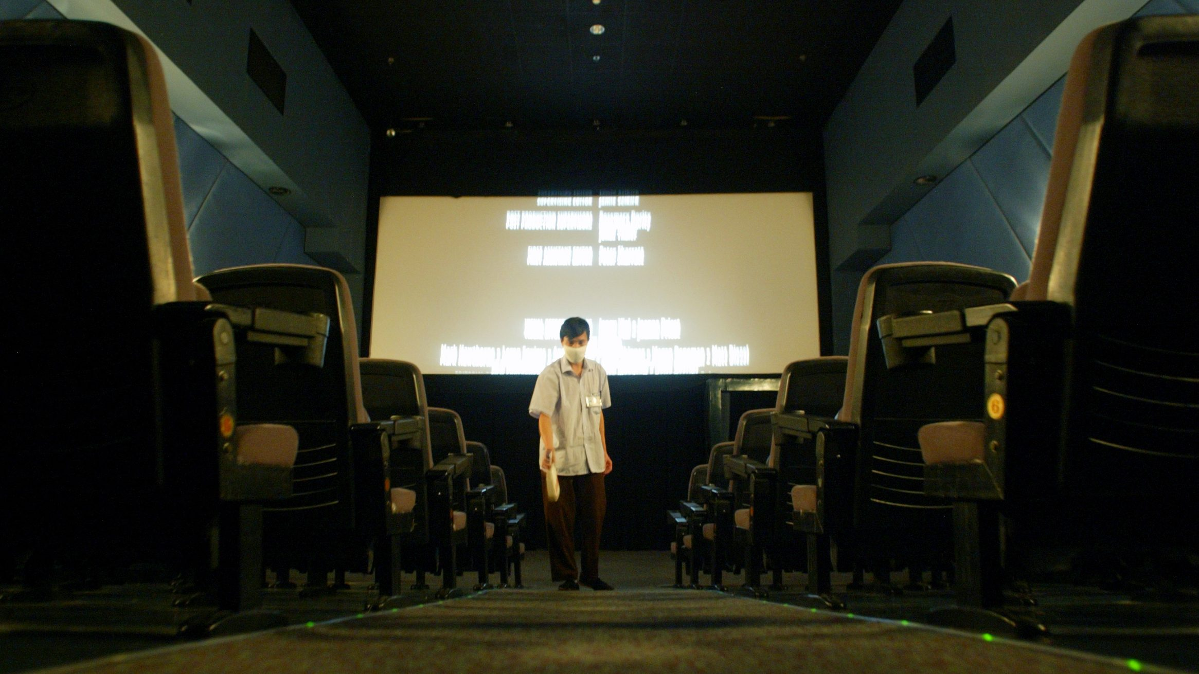A movie theatre is disinfected after reopening following a five-week closure due to SARS in Beijing June 13, 2003. The World Health Organisation said on Thursday the global SARS outbreak may be nearing an end and lauded hard-hit China's campaign against the virus.