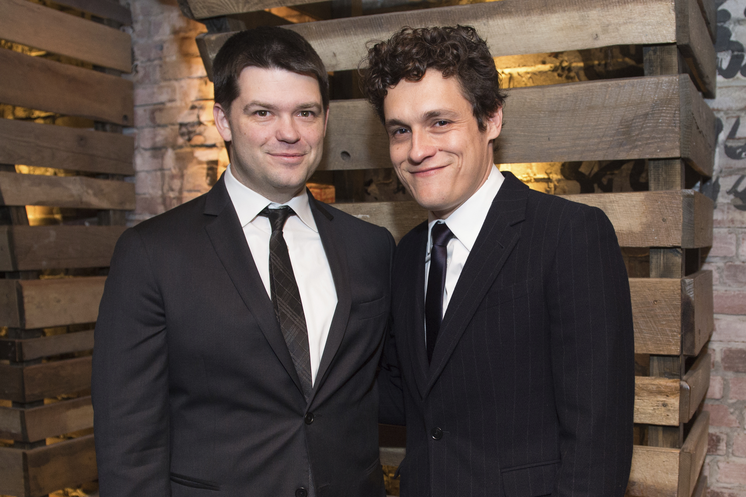 FILE - In this Jan. 5, 2015, file photo, Christopher Miller, left, and Phil Lord pose for a photo at the New York Film Critics Circle Awards at TAO Downtown, in New York. Lucasfilm president Kathleen Kennedy said Tuesday, June 20, 2017, that the Star Wars spinoff is parting ways with directors Phil Lord and Christopher Miller due to different creative visions on the film. Kennedy said a new director would be announced soon. (Photo by Scott Roth/Invision/AP, File)