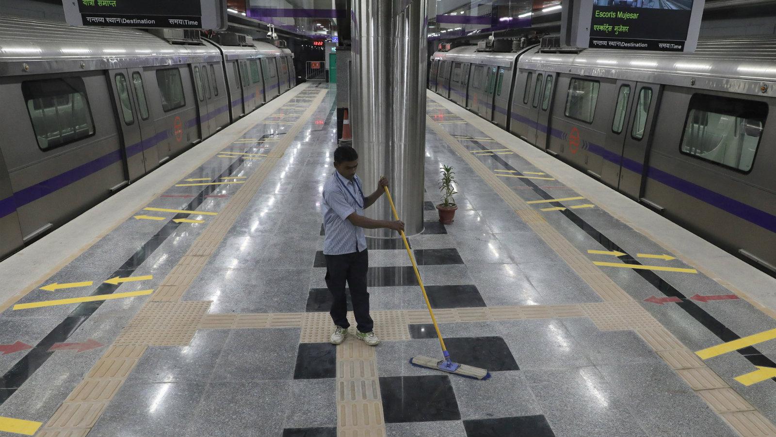 India-Transport-Delhi Metro