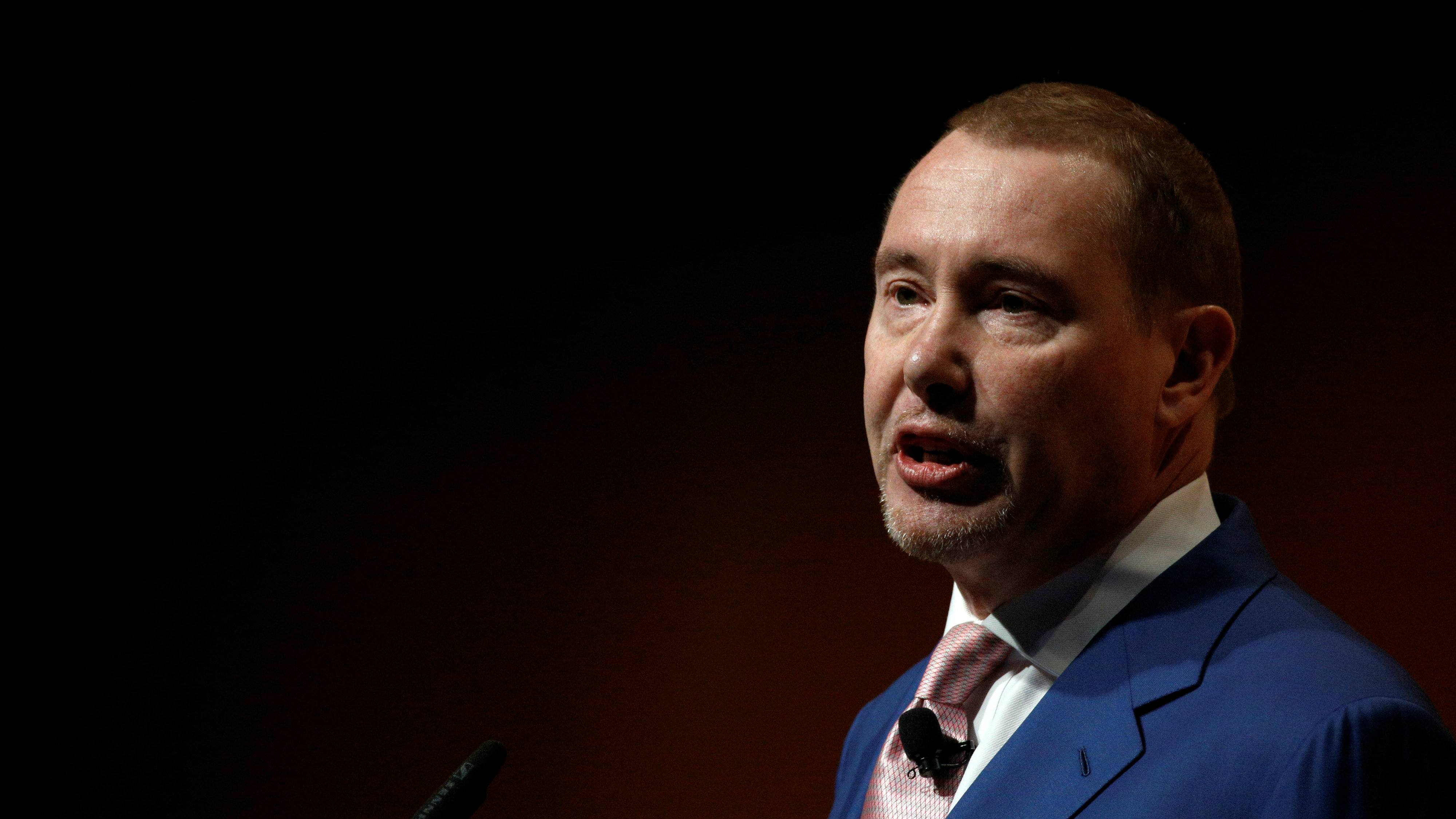 Jeffrey Gundlach, Chief Executive Officer, DoubleLine Capital LP., speaks at the Sohn Investment Conference in New York City, U.S. May 4, 2016.