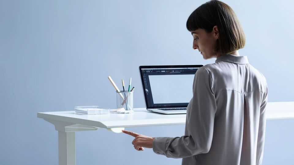 Herman Miller is connecting desks to the clouds with sensors that collect anonymized data and help workers keep goals for changing between sitting and standing postures.