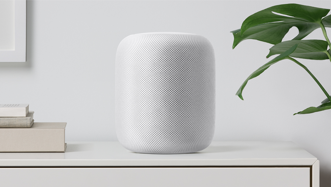 Apple's newest gadget, the HomePod.