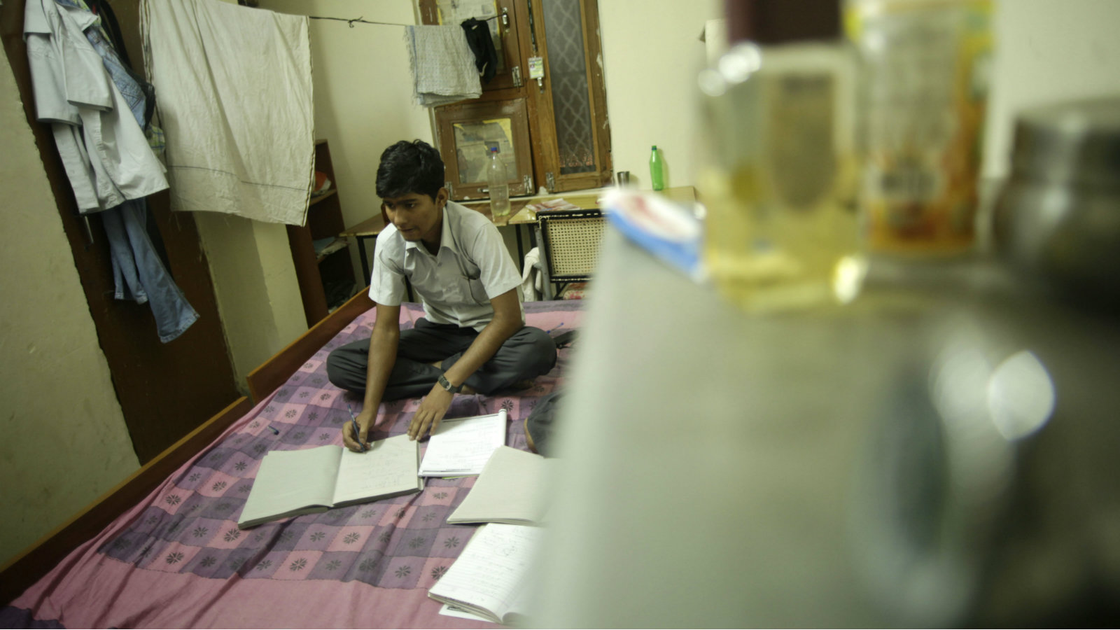 A student preparing for  the exam to join IITs.