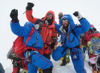 They took a more direct route to the top of the world.
