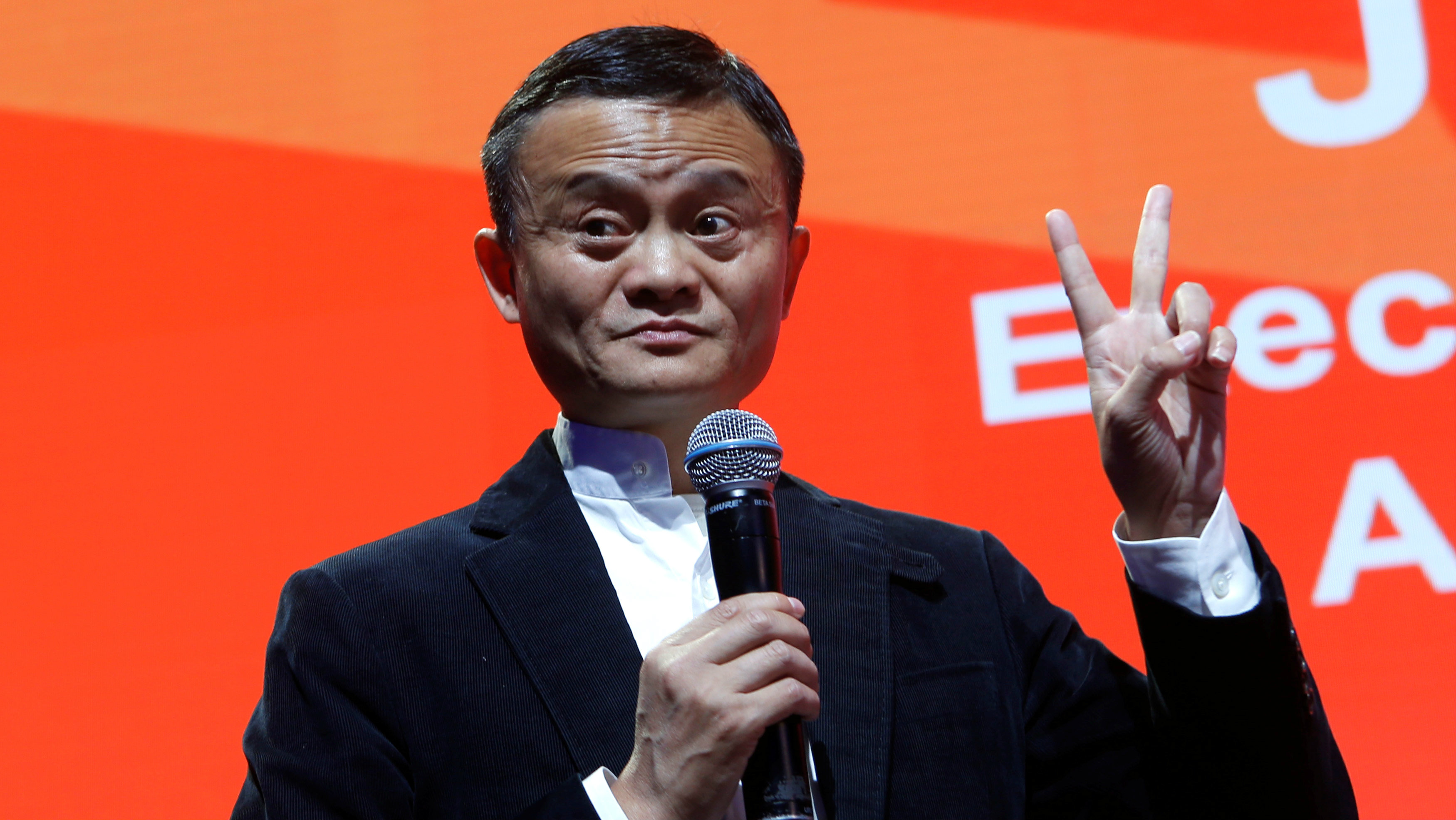 ack Ma, Founder and Executive Chairman of Alibaba Group Holding, addresses the media during the inaugural Gateway '17 event at Cobo Center in Detroit, Michigan, U.S., June 20, 2017