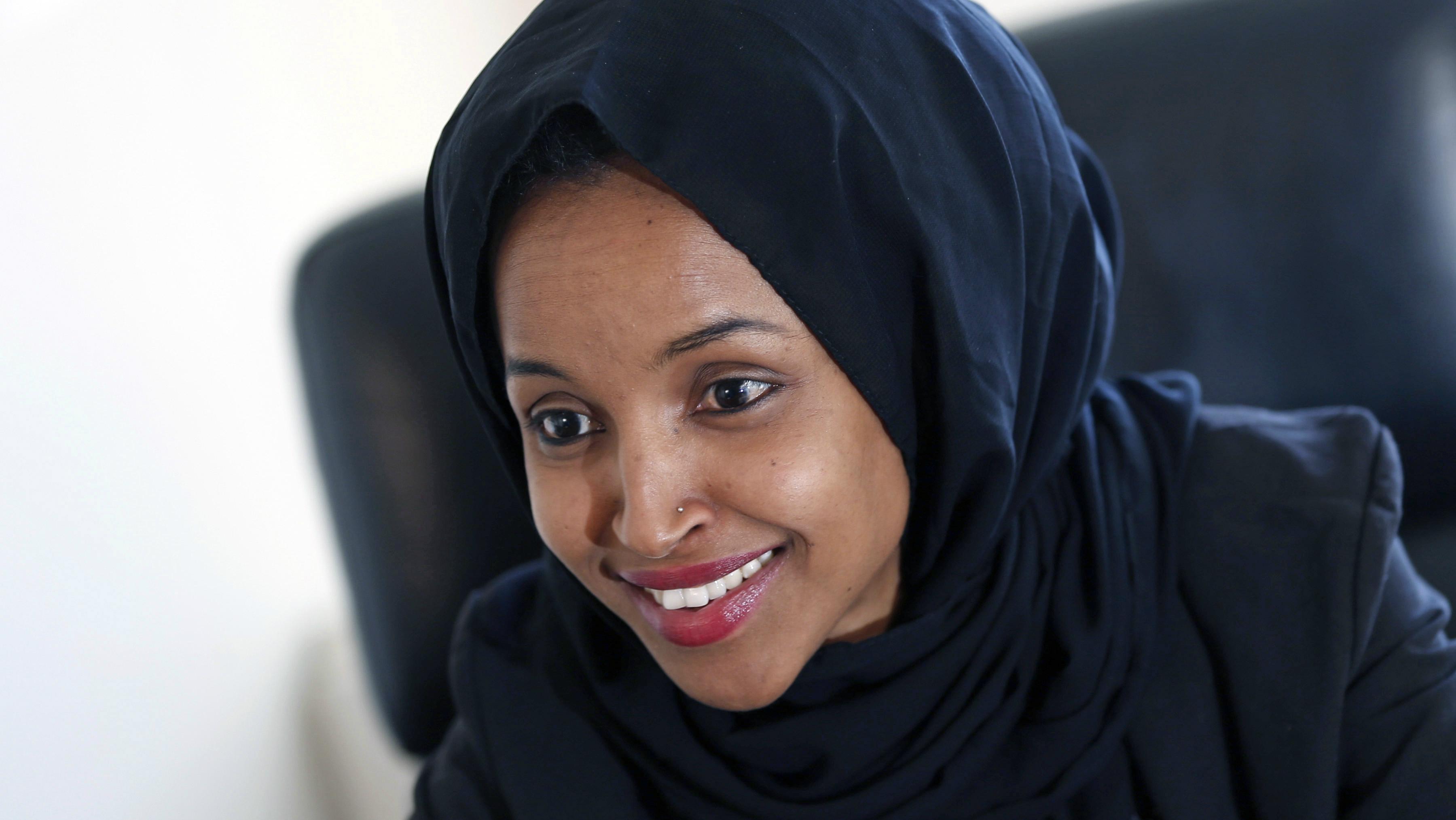 Minnesota state representative Ilhan Omar.
