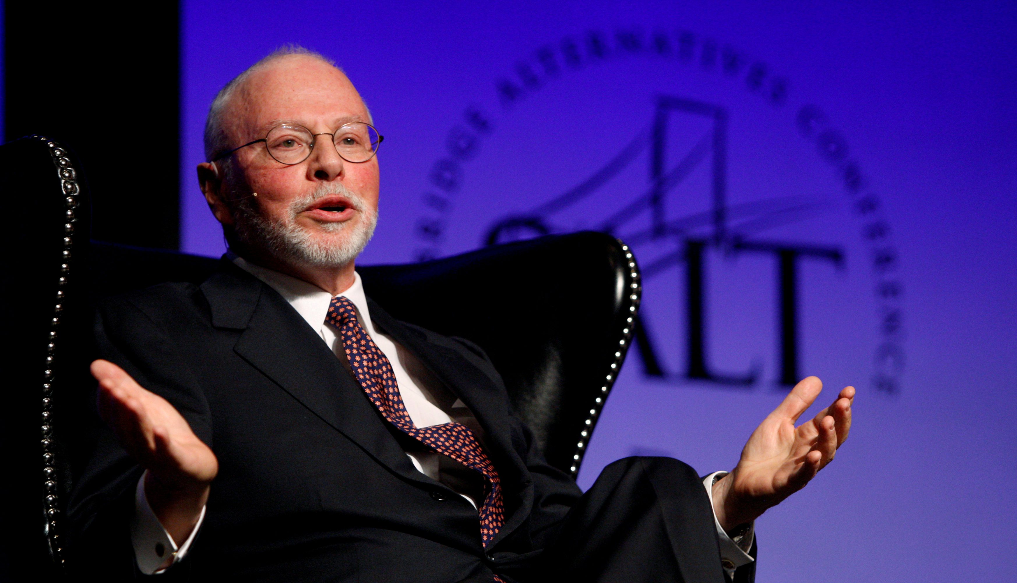 Paul Singer, founder, CEO, and co-chief investment officer for Elliott Management Corporation, speaks during the Skybridge Alternatives (SALT) Conference in Las Vegas, Nevada May, 9, 2012.