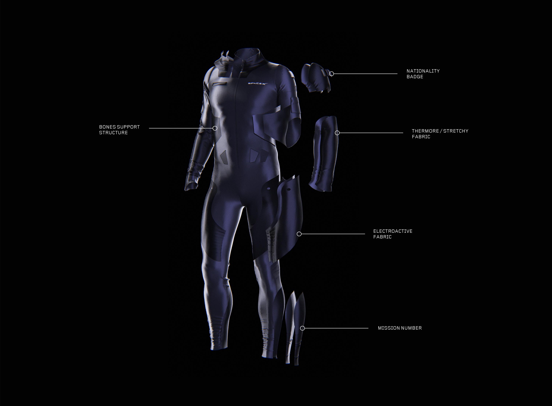 Clément Balavoine's SpaceX flight suit concept
