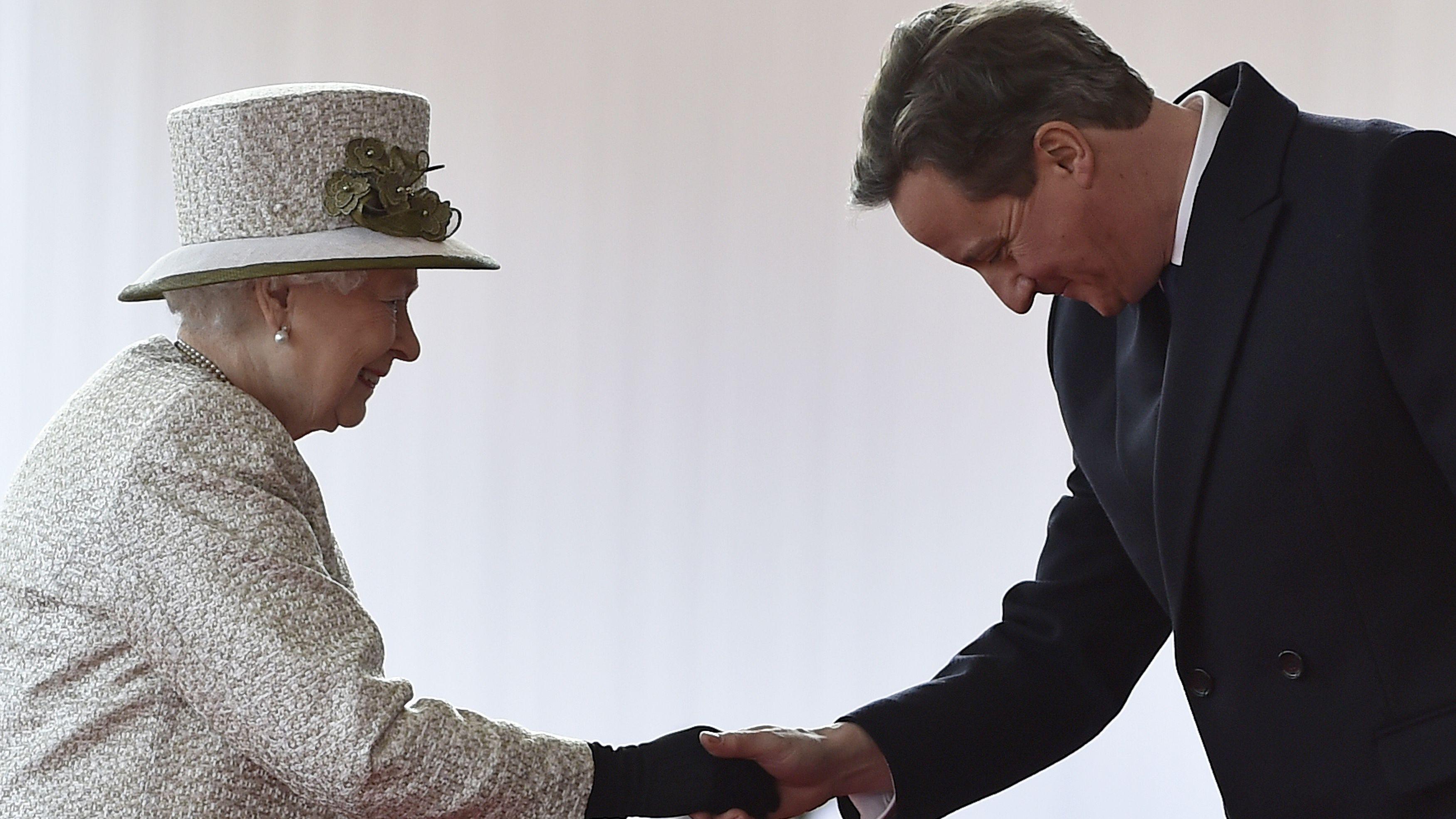 Queen Elizabeth David Cameron bow
