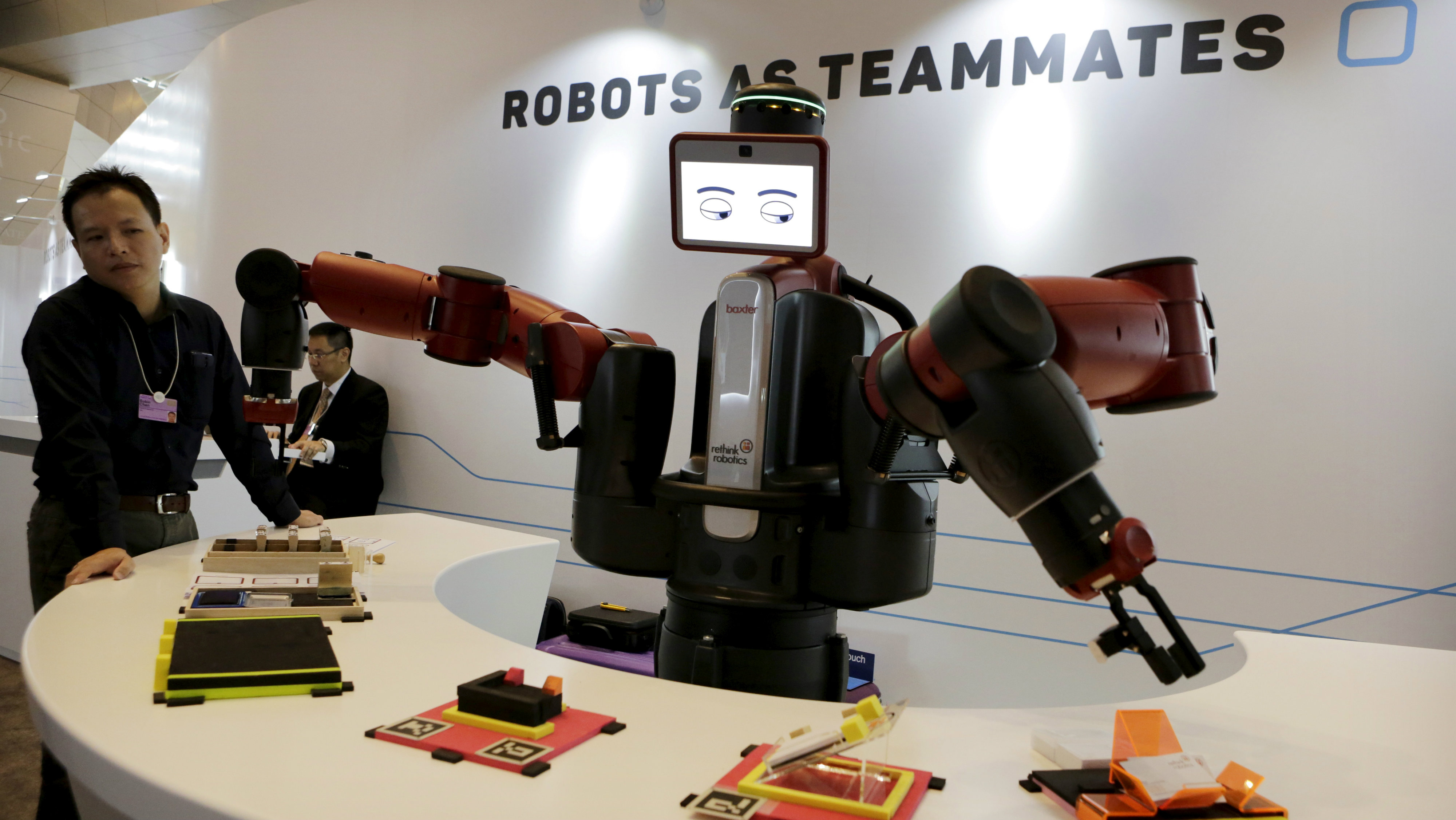 Robot at World Economic Forum in China