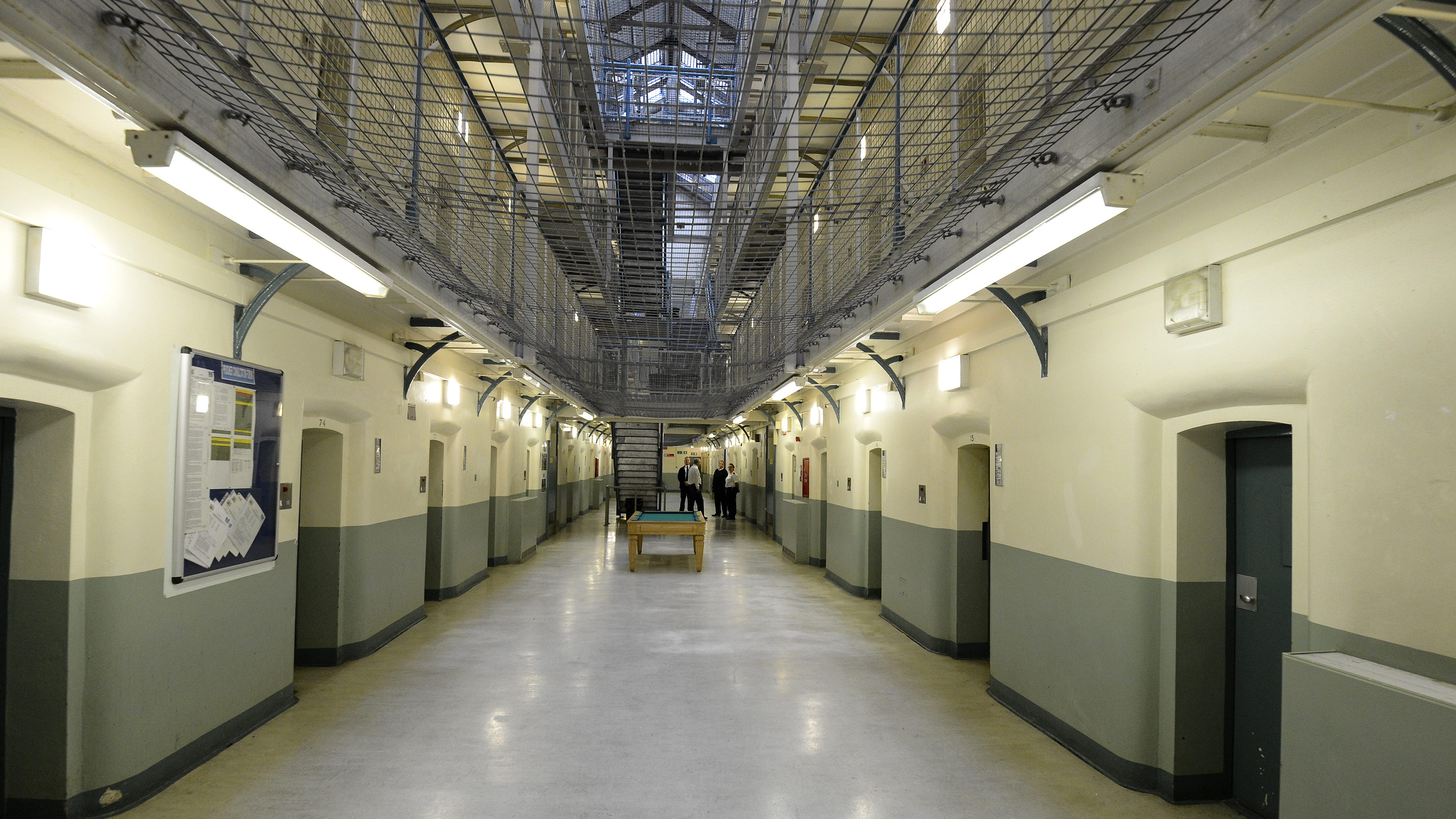 A general view shows C wing at Wormwood Scrubs prison in London